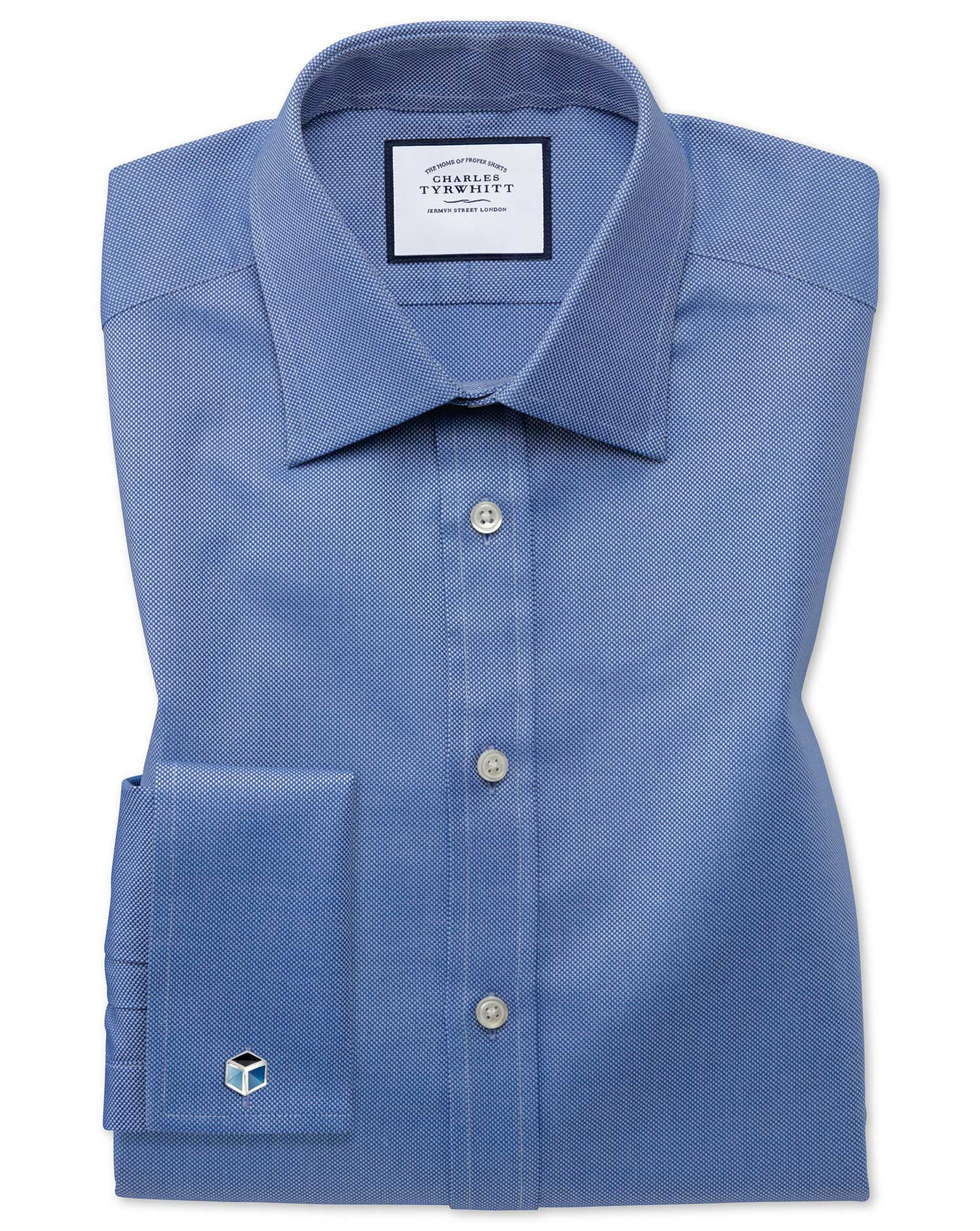 Classic Fit Egyptian Cotton Royal Oxford Royal Formal Shirt Single Cuff Size 17/36 by Charles Tyrwhi