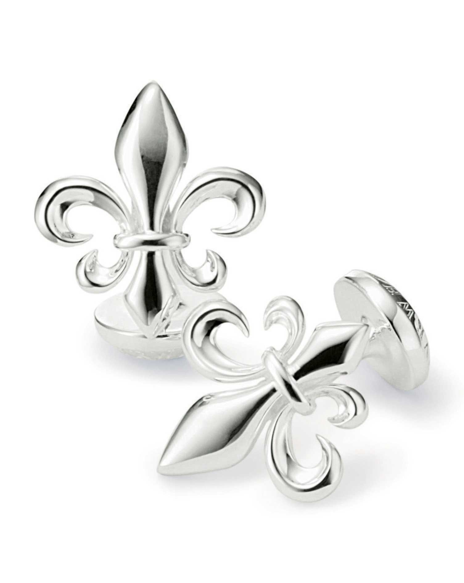 fleur de lys silver plated cufflinks charles tyrwhitt. Black Bedroom Furniture Sets. Home Design Ideas