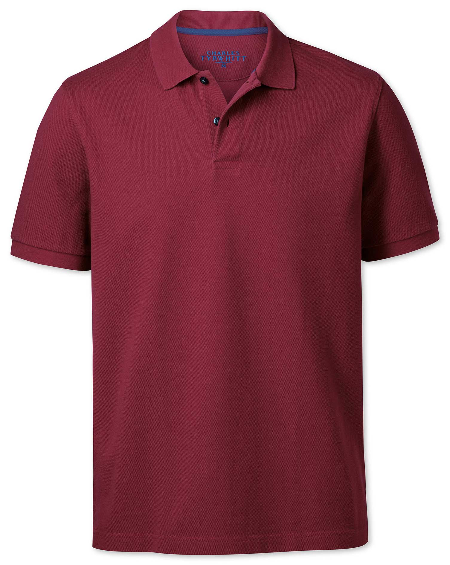 Red Pique Cotton Polo Size XS by Charles Tyrwhitt