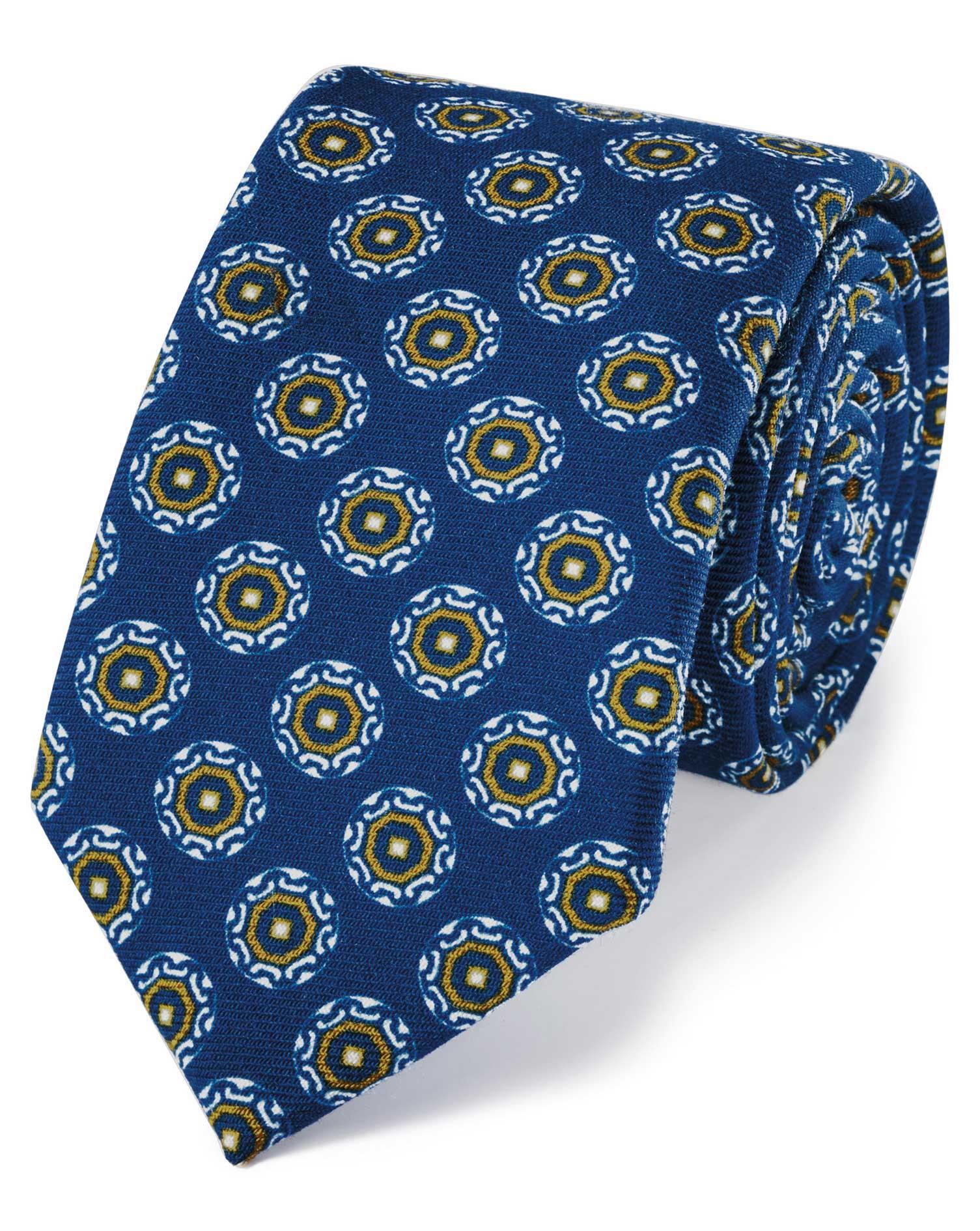 cravate de luxe bleu roi en laine italienne avec imprim charles tyrwhitt. Black Bedroom Furniture Sets. Home Design Ideas