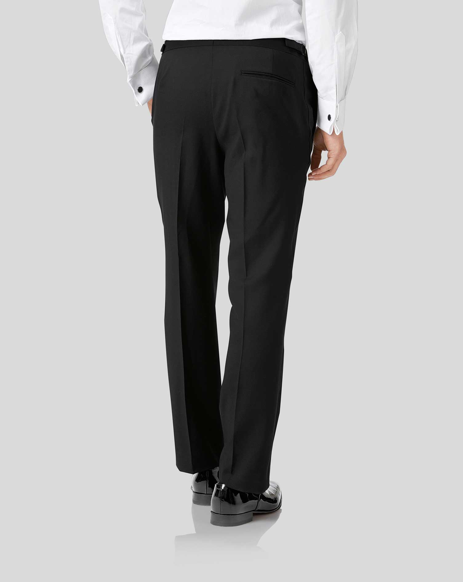 Black classic fit tuxedo trousers