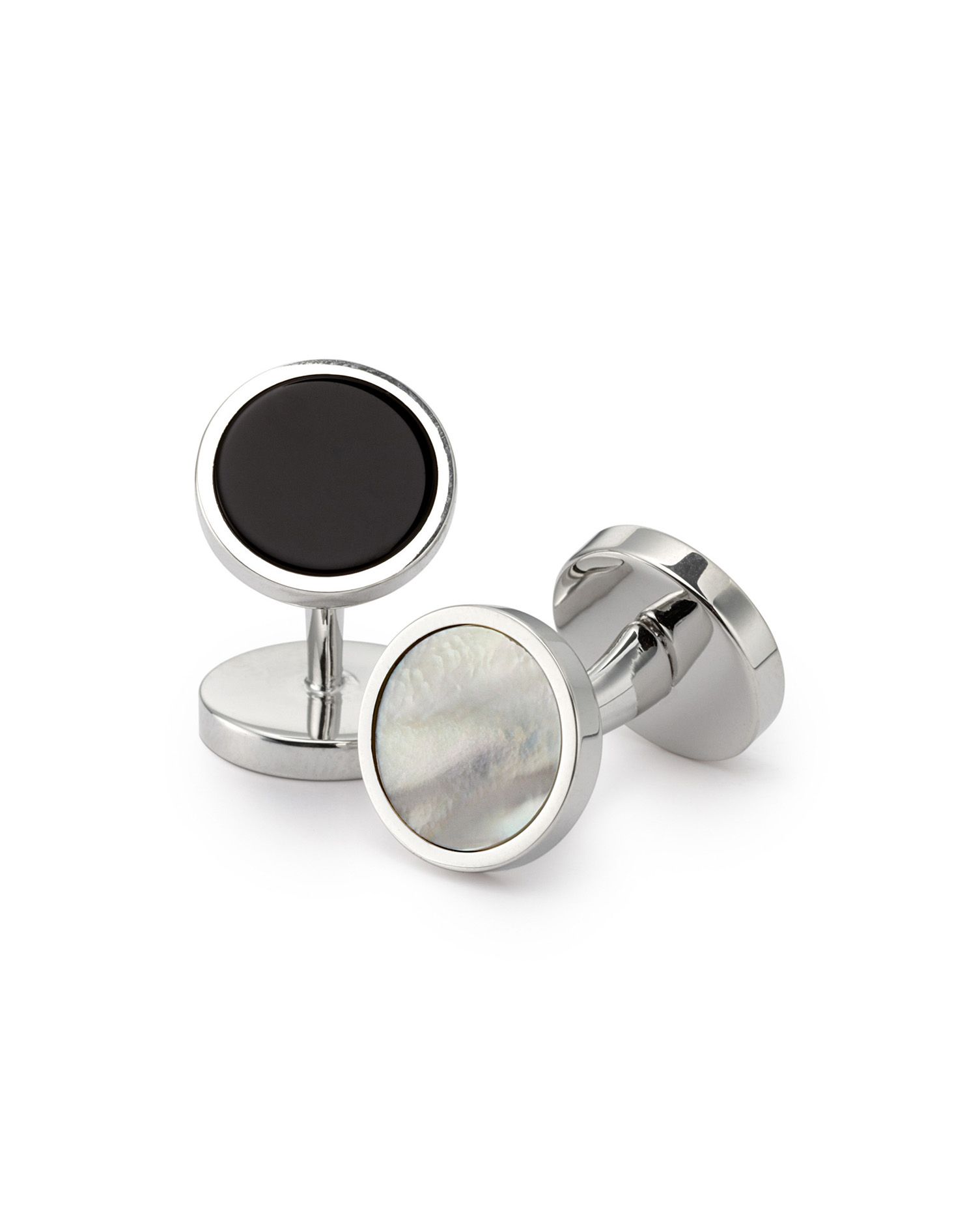 Mother-Of-Pearl and Onyx Evening Cufflinks by Charles Tyrwhitt