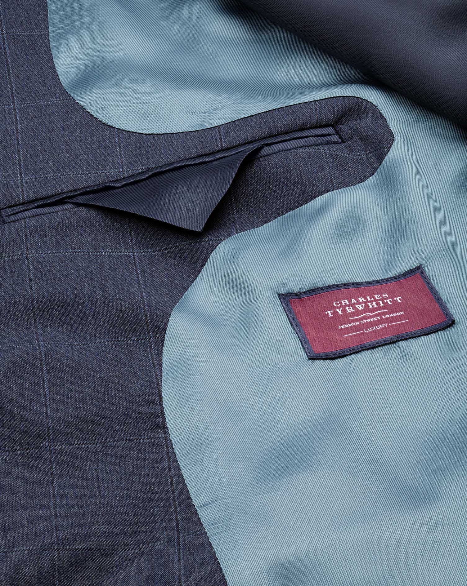 Airforce blue classic fit Italian suit jacket