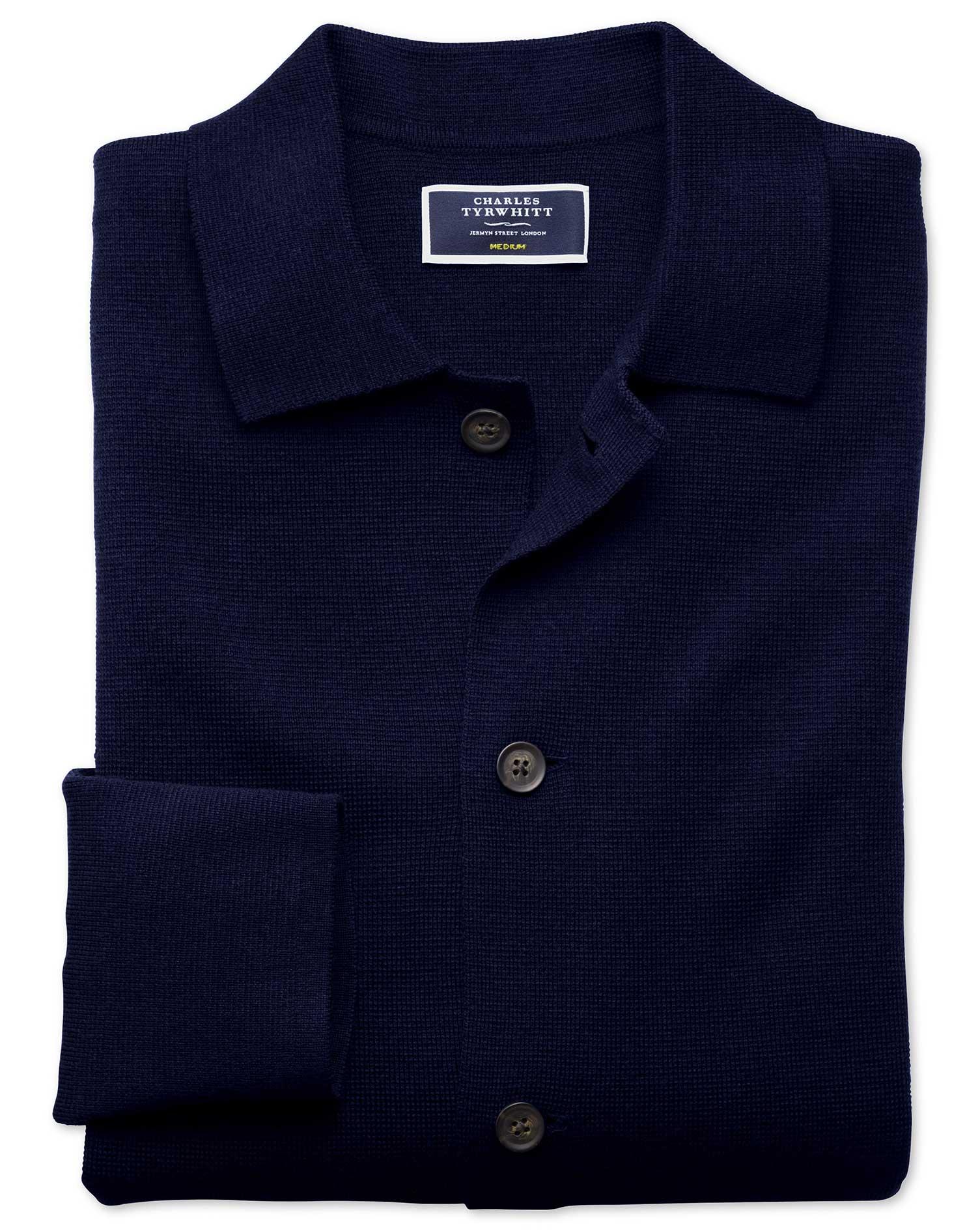Navy Merino Wool Jacket Size XXL by Charles Tyrwhitt