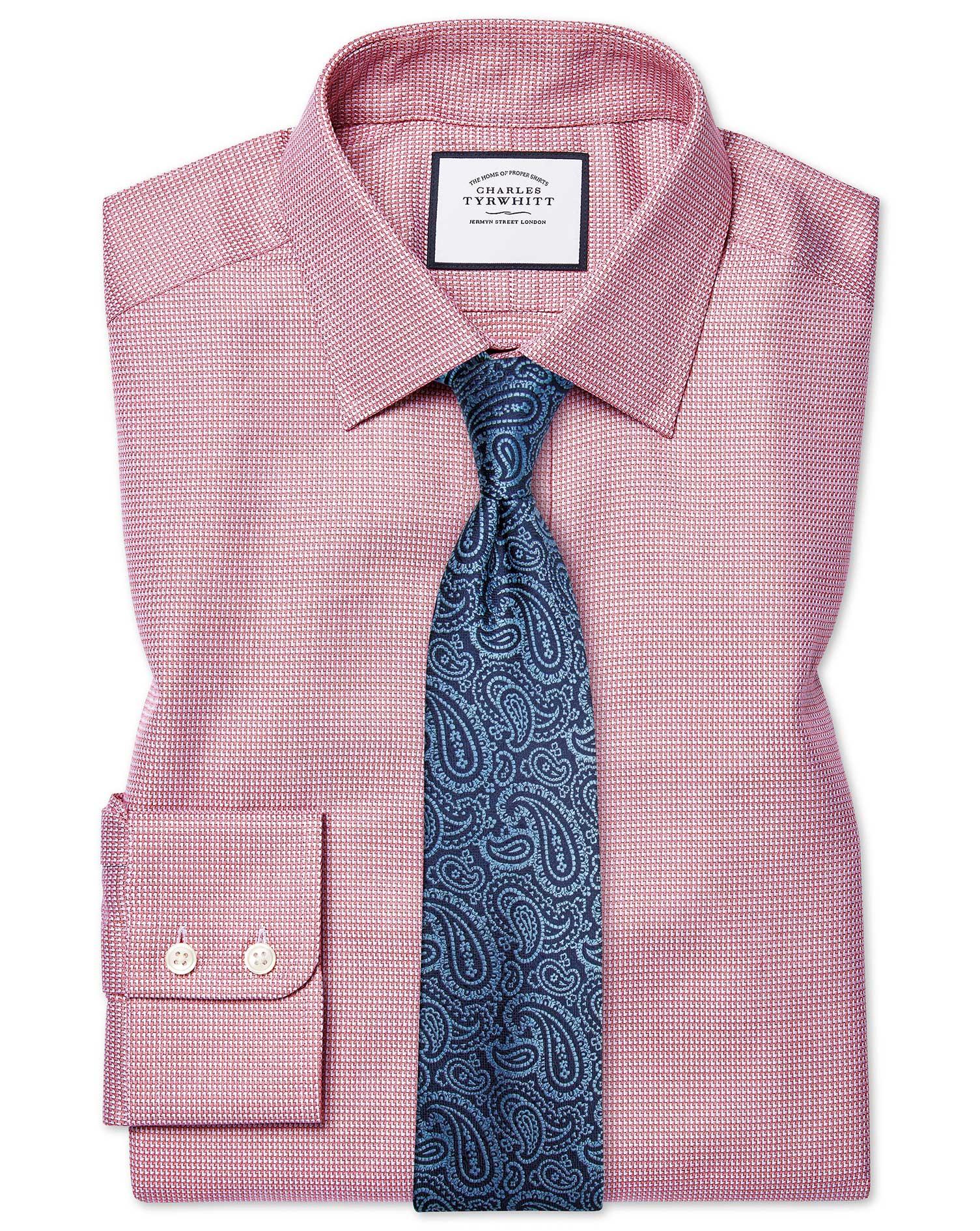 Classic Fit Egyptian Cotton Chevron Pink Shirt