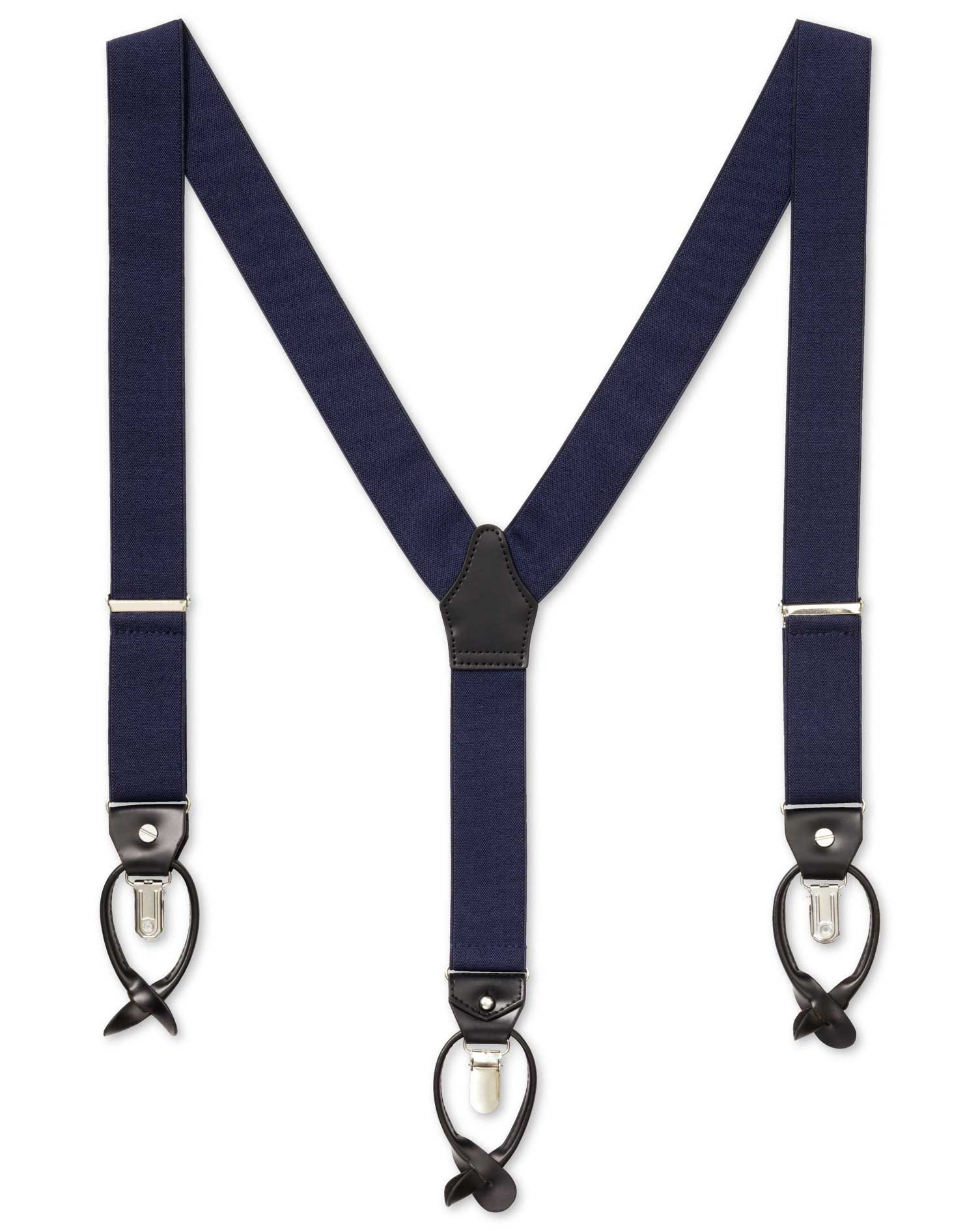 Men's Vintage Style Suspenders Charles Tyrwhitt Navy combination braces £29.95 AT vintagedancer.com