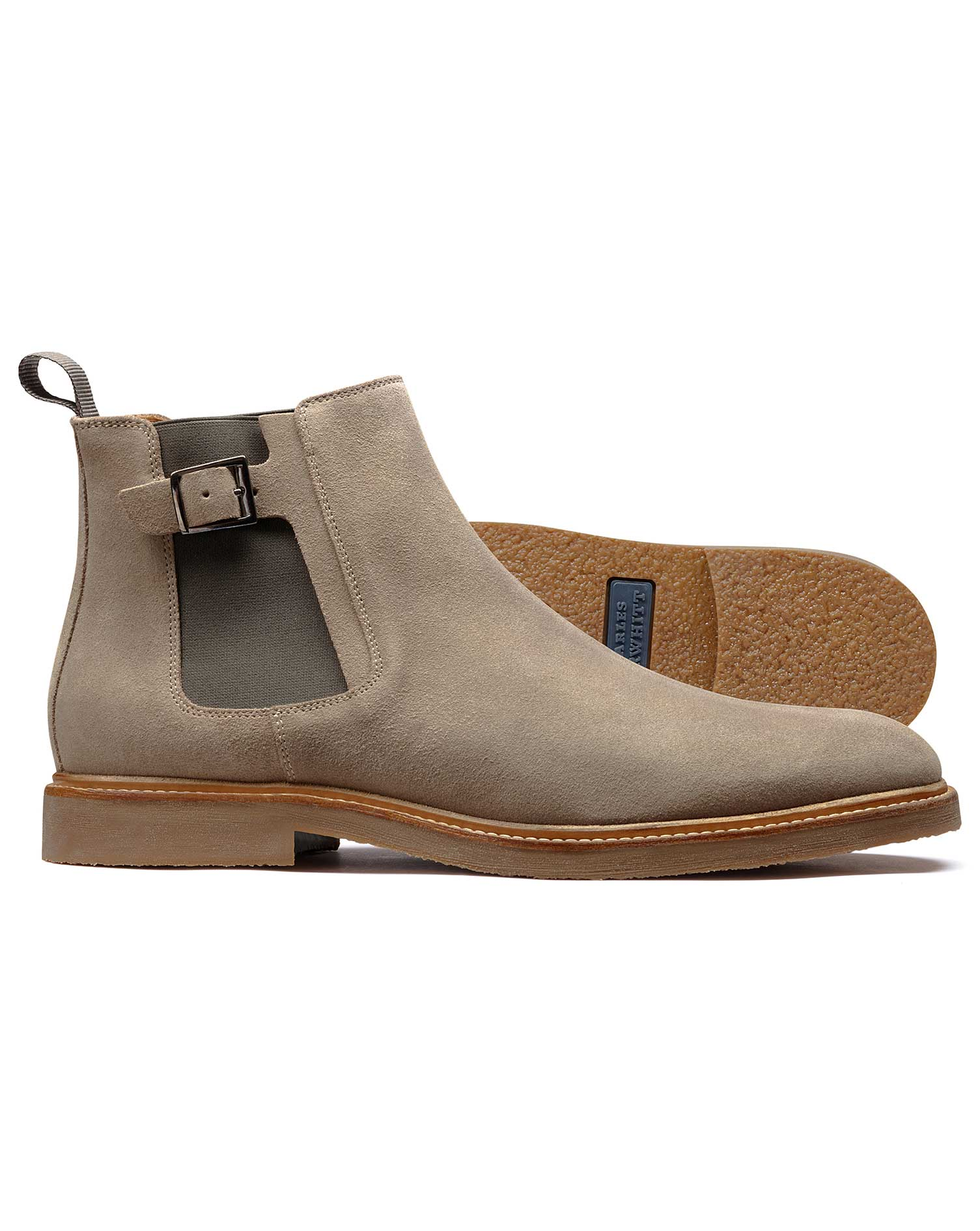 Stone Chelsea Boot Size 9 R by Charles Tyrwhitt