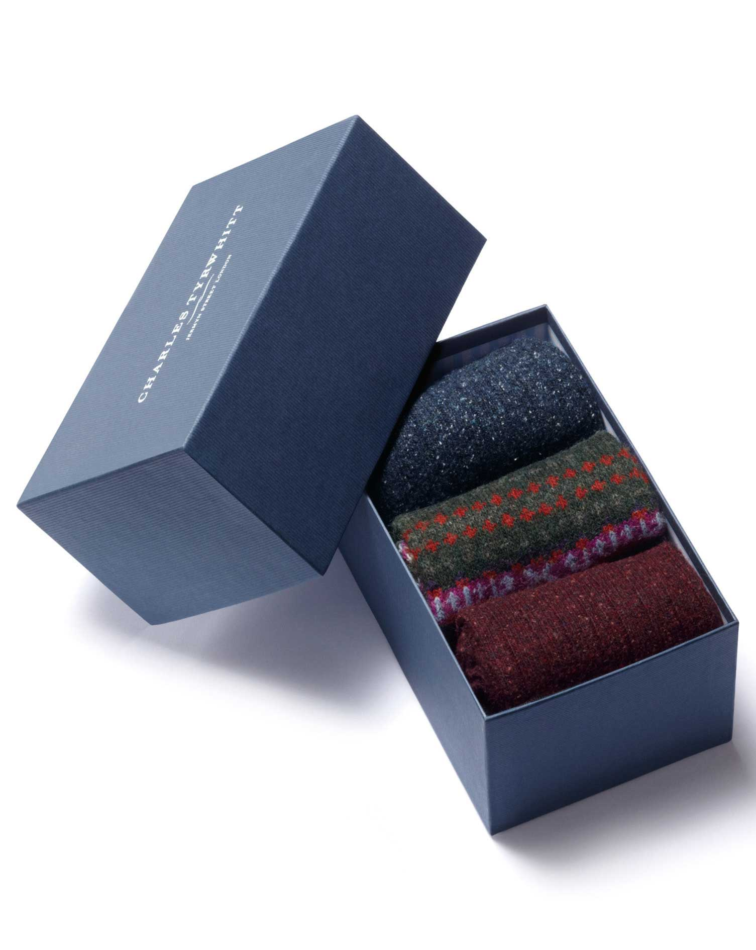Multi Chunky Sock Gift Box Size Large by Charles Tyrwhitt