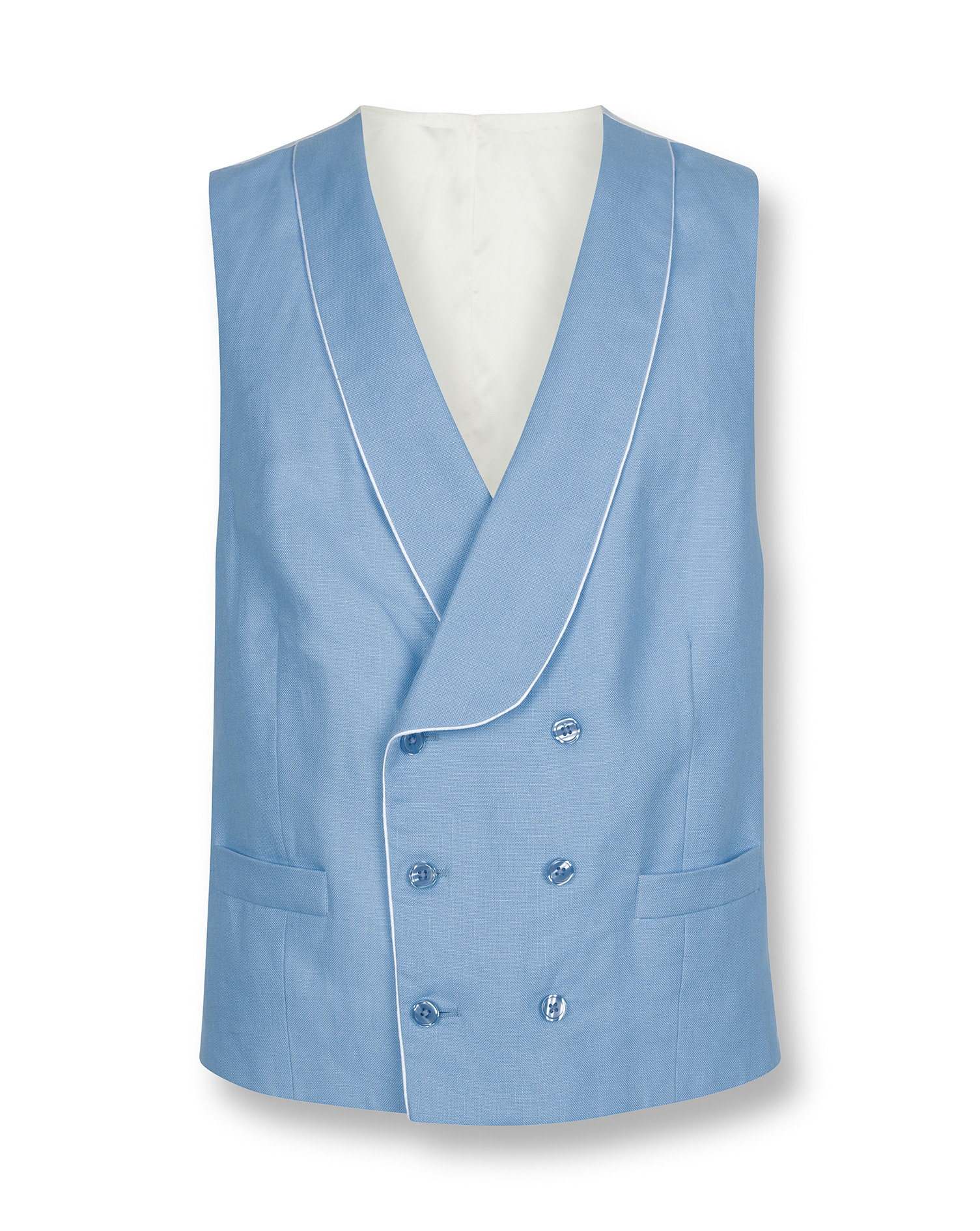 Blue Adjustable Fit Morning Suit Waistcoat Size w46 by Charles Tyrwhitt