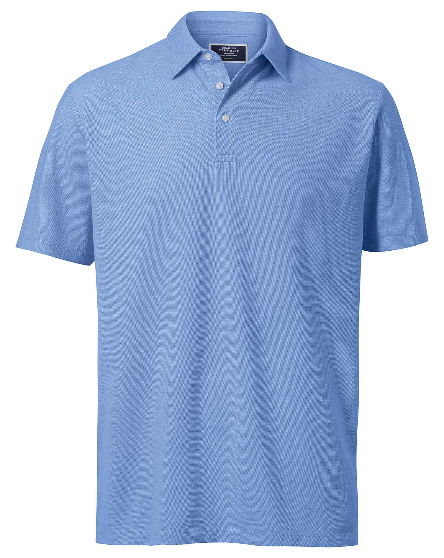 Sky Blue Oxford Cotton Polo Size Small by Charles Tyrwhitt