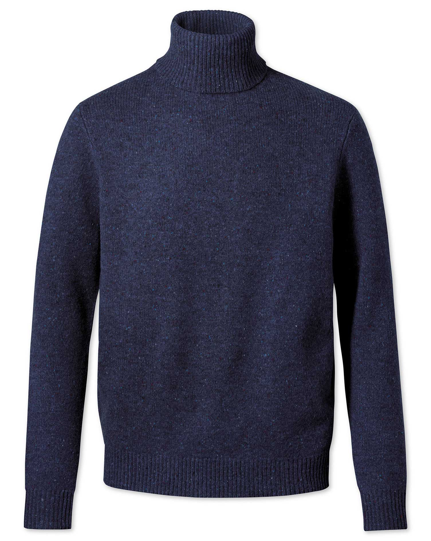 Navy Roll Neck Donegal Merino Wool Jumper Size XXXL by Charles Tyrwhitt