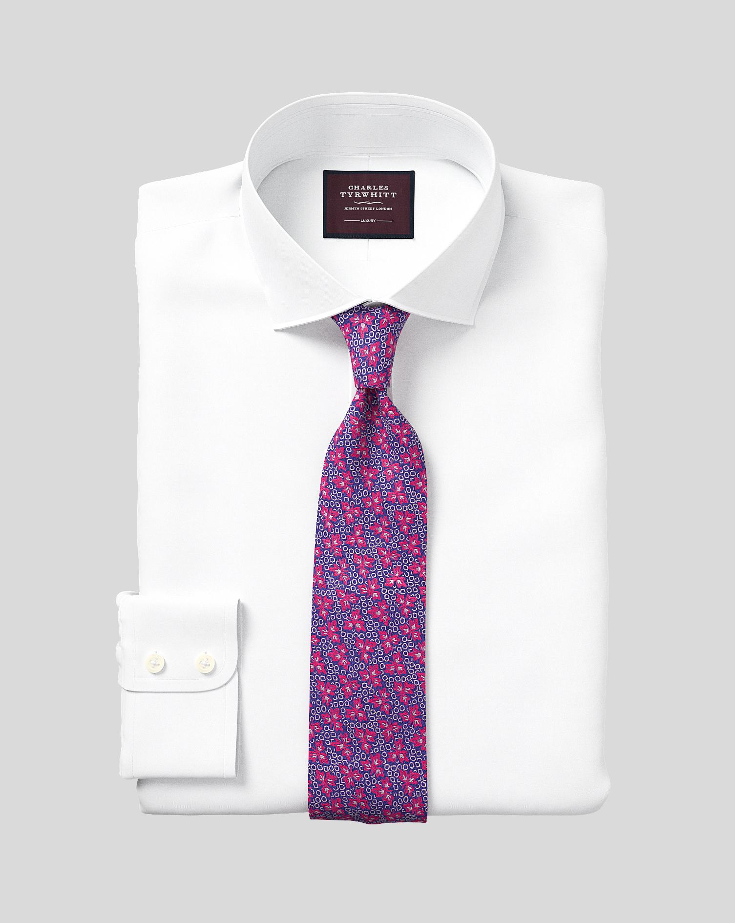Egyptian Cotton Extra Slim Fit White Luxury Twill Shirt