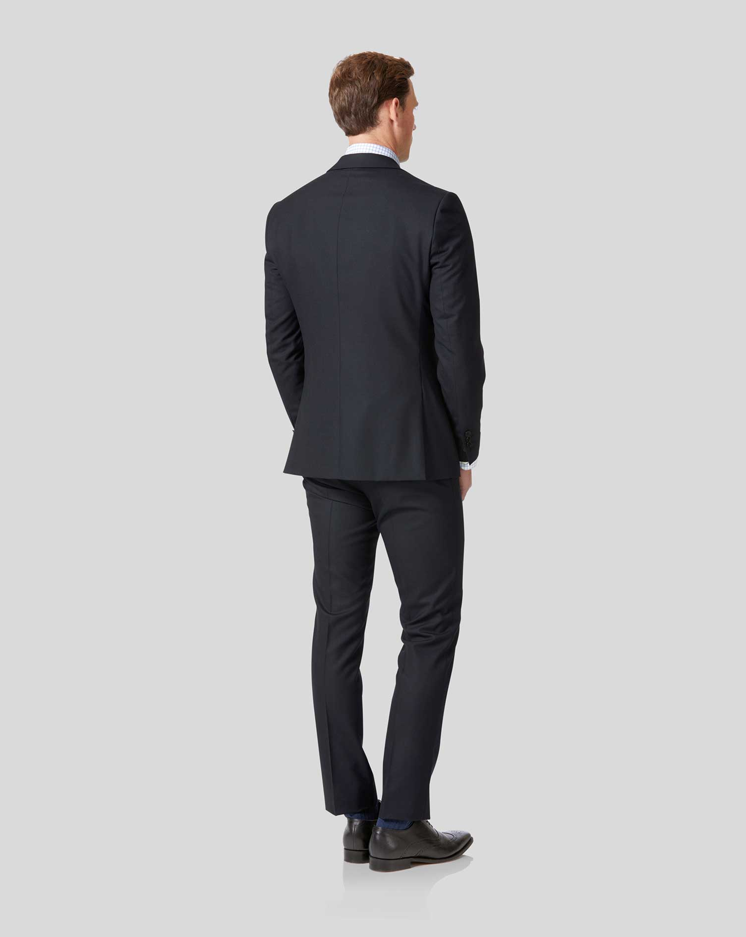 Extra Slim Fit Businessanzug-Sakko aus Merino in Marineblau