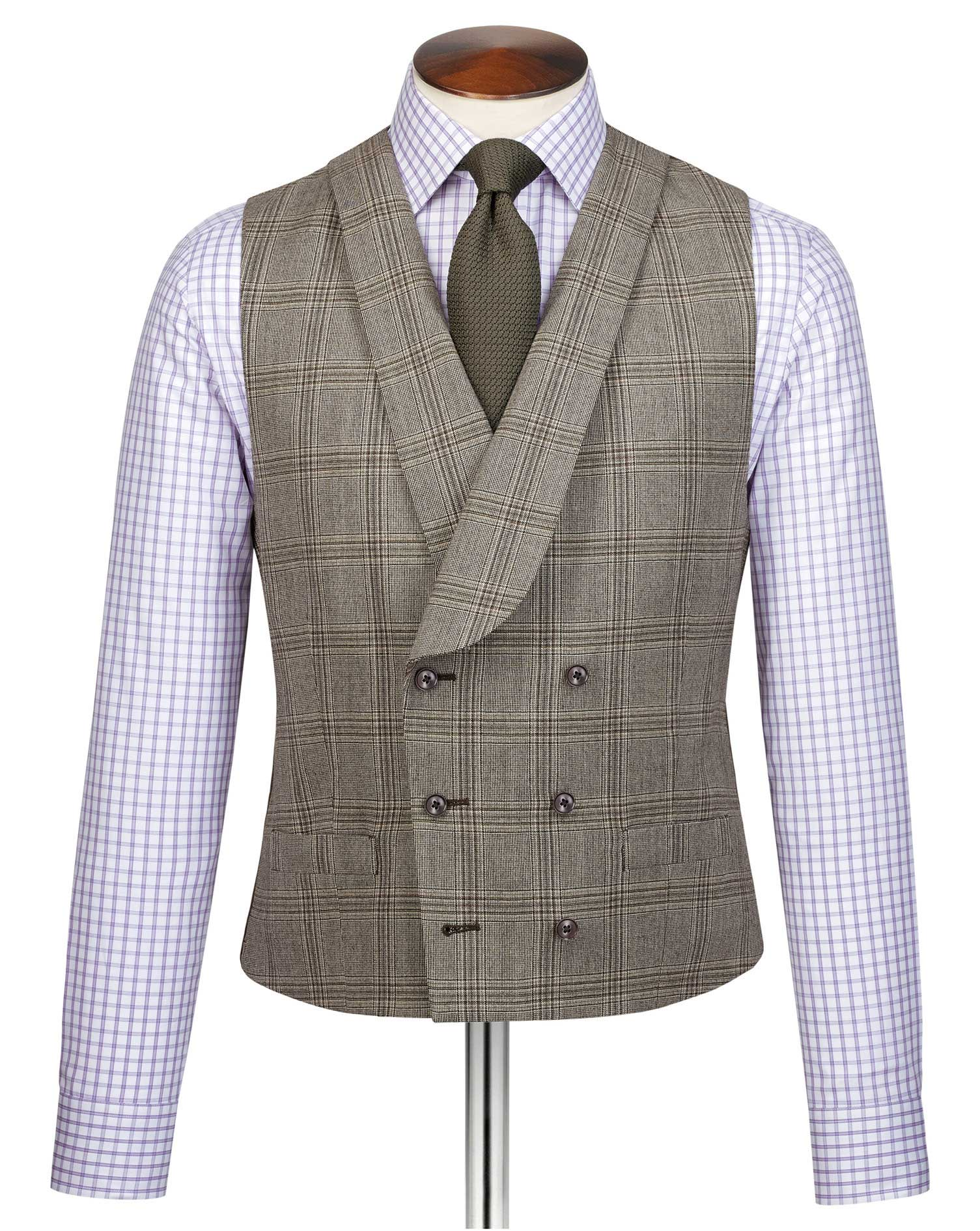 Grey adjustable fit British serge luxury suit waistcoat