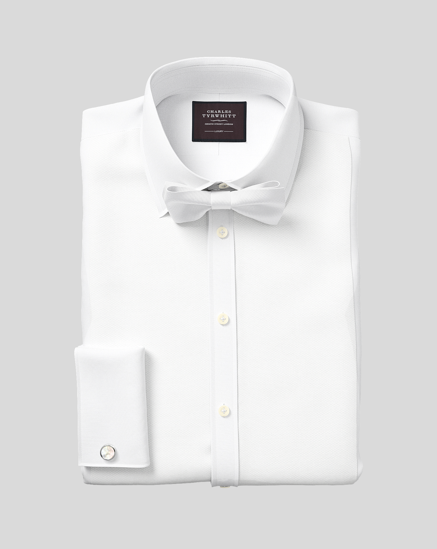 Slim Fit Luxury Marcella White Tuxedo Shirt Charles Tyrwhitt