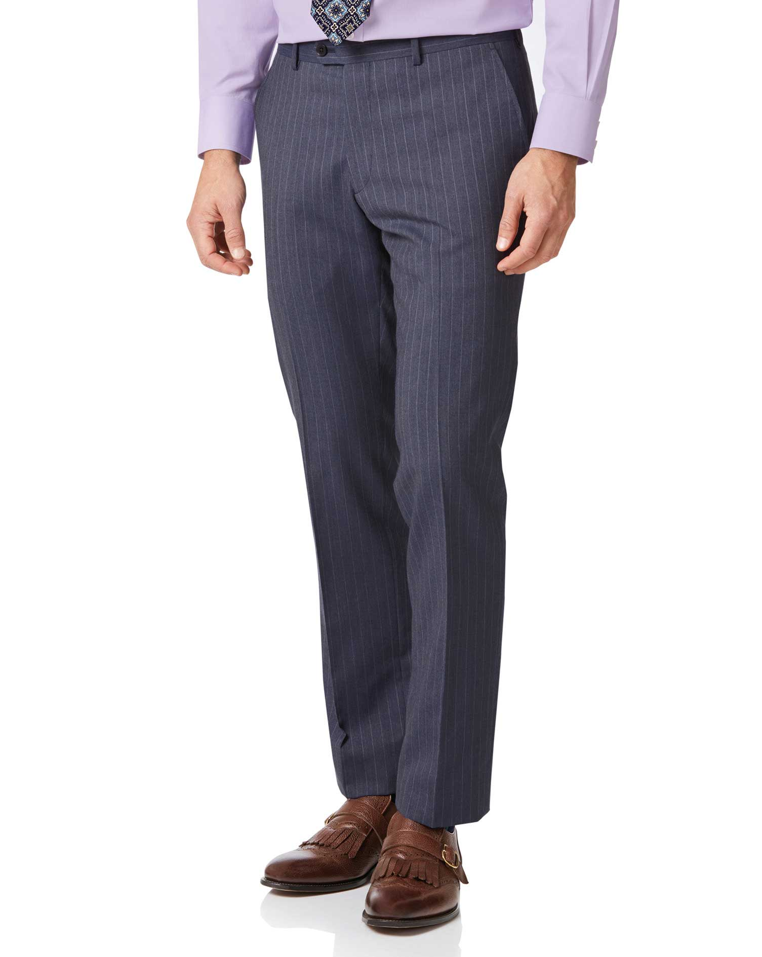 Airforce Stripe Classic Fit Panama Business Suit Trouser Size W42 L32 by Charles Tyrwhitt