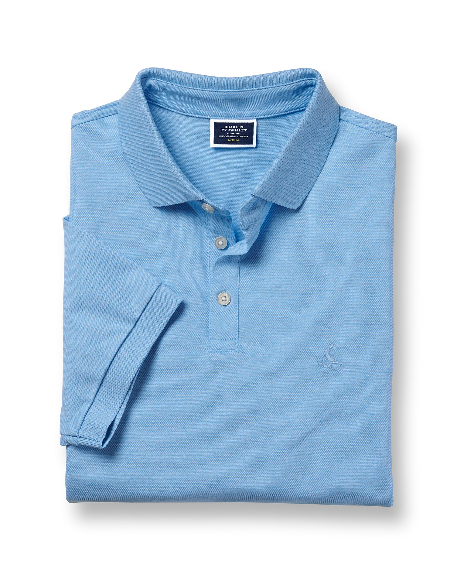 Polo Tyrwhitt En Piqué - Bleu Ciel - S par Charles Tyrwhitt