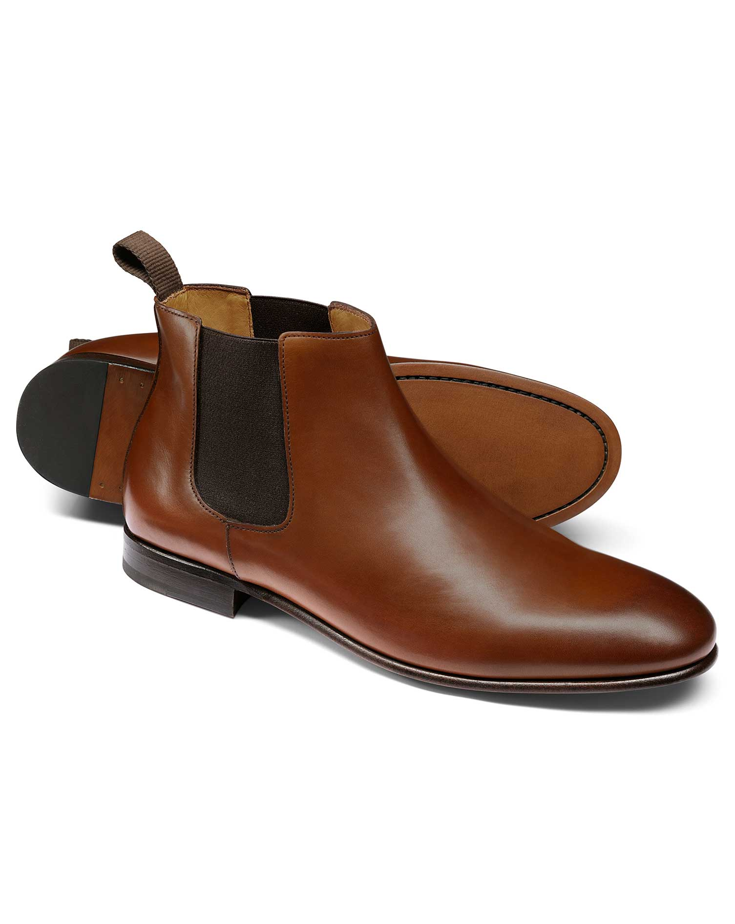 Tan Chelsea Boot Size 9 R by Charles Tyrwhitt