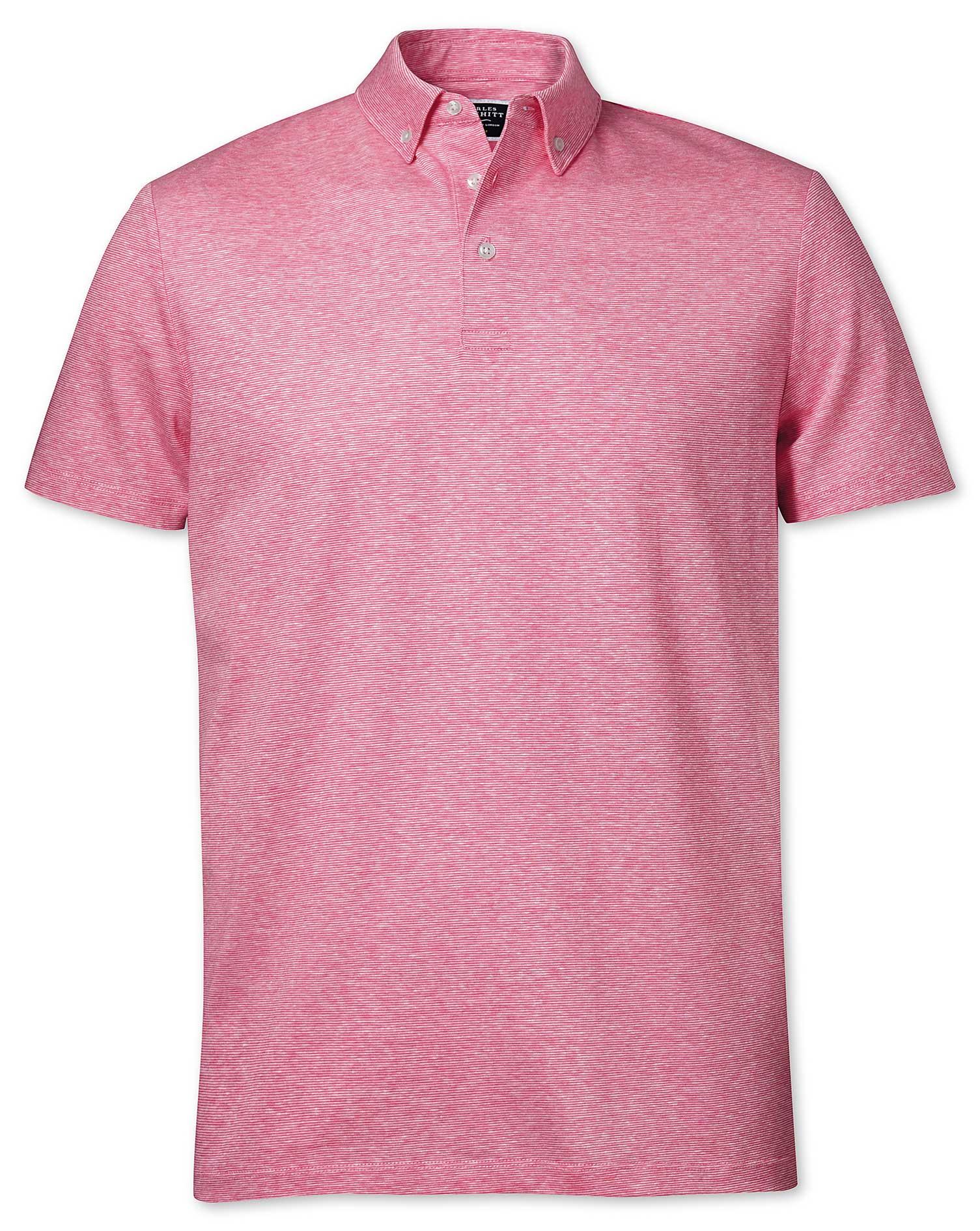 Pink Cotton Linen Polo