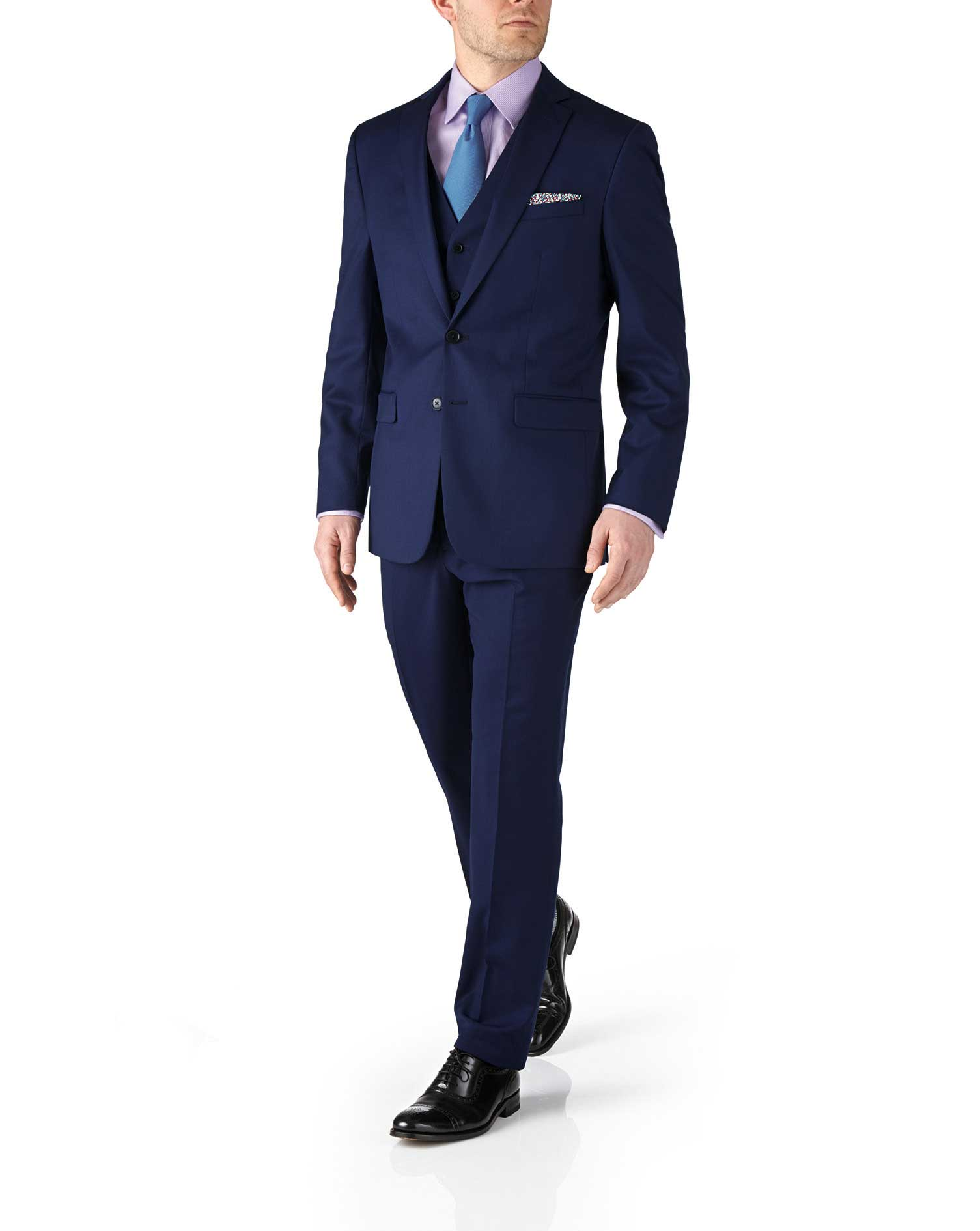 Veste de costume business bleu roi en twill slim fit