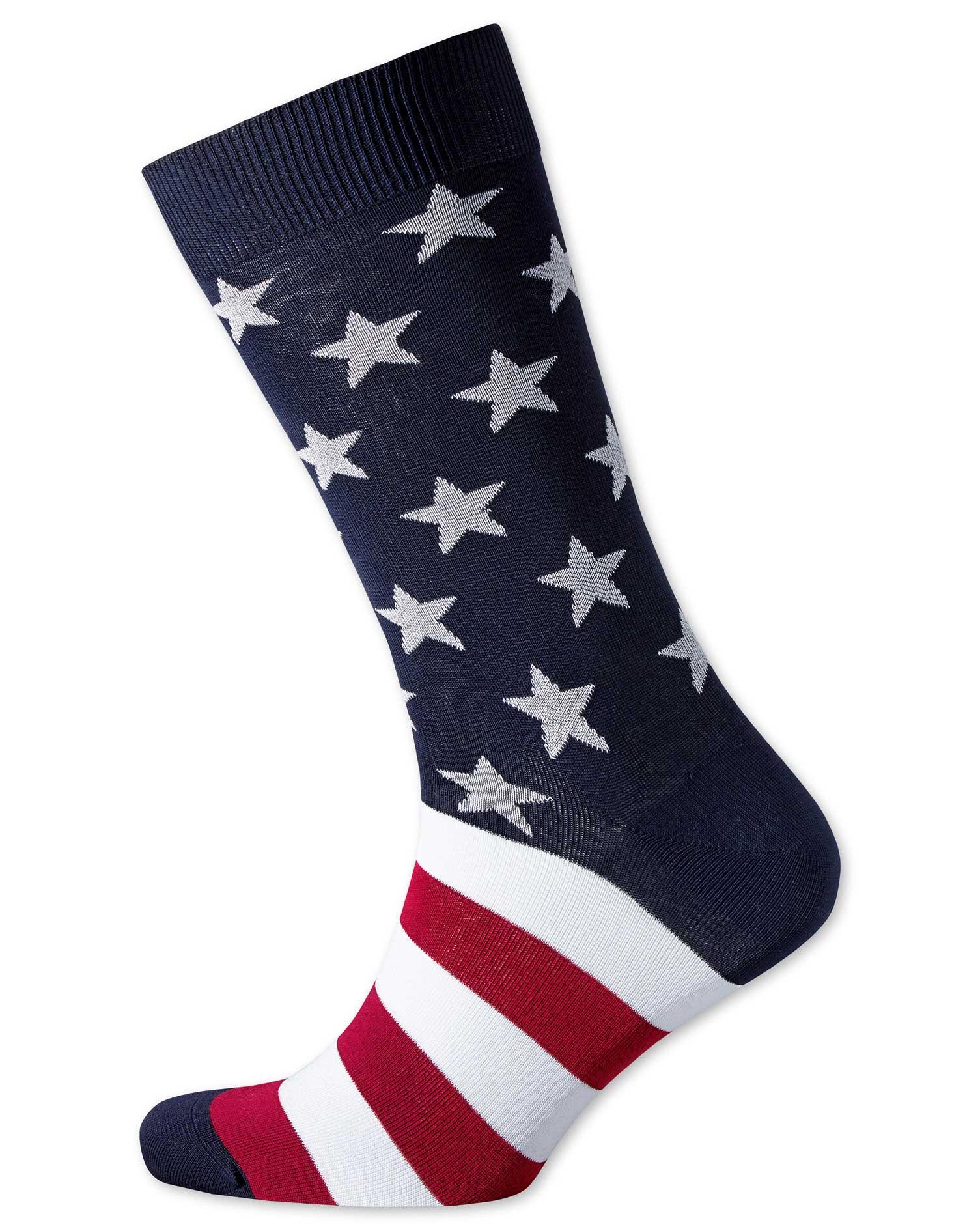 stars and stripes socks size medium by charles tyrwhitt