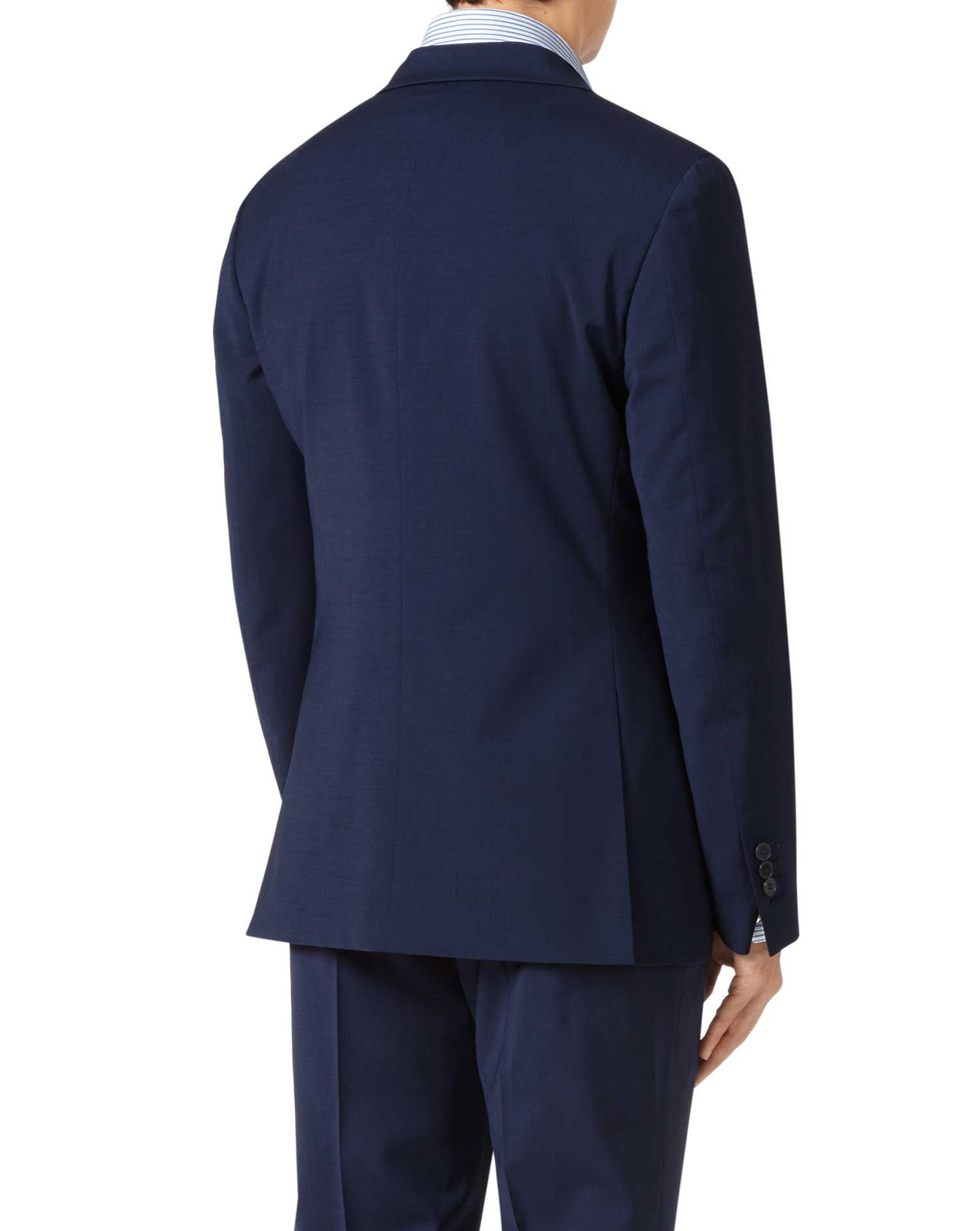 Royal blue slim fit performance suit jacket