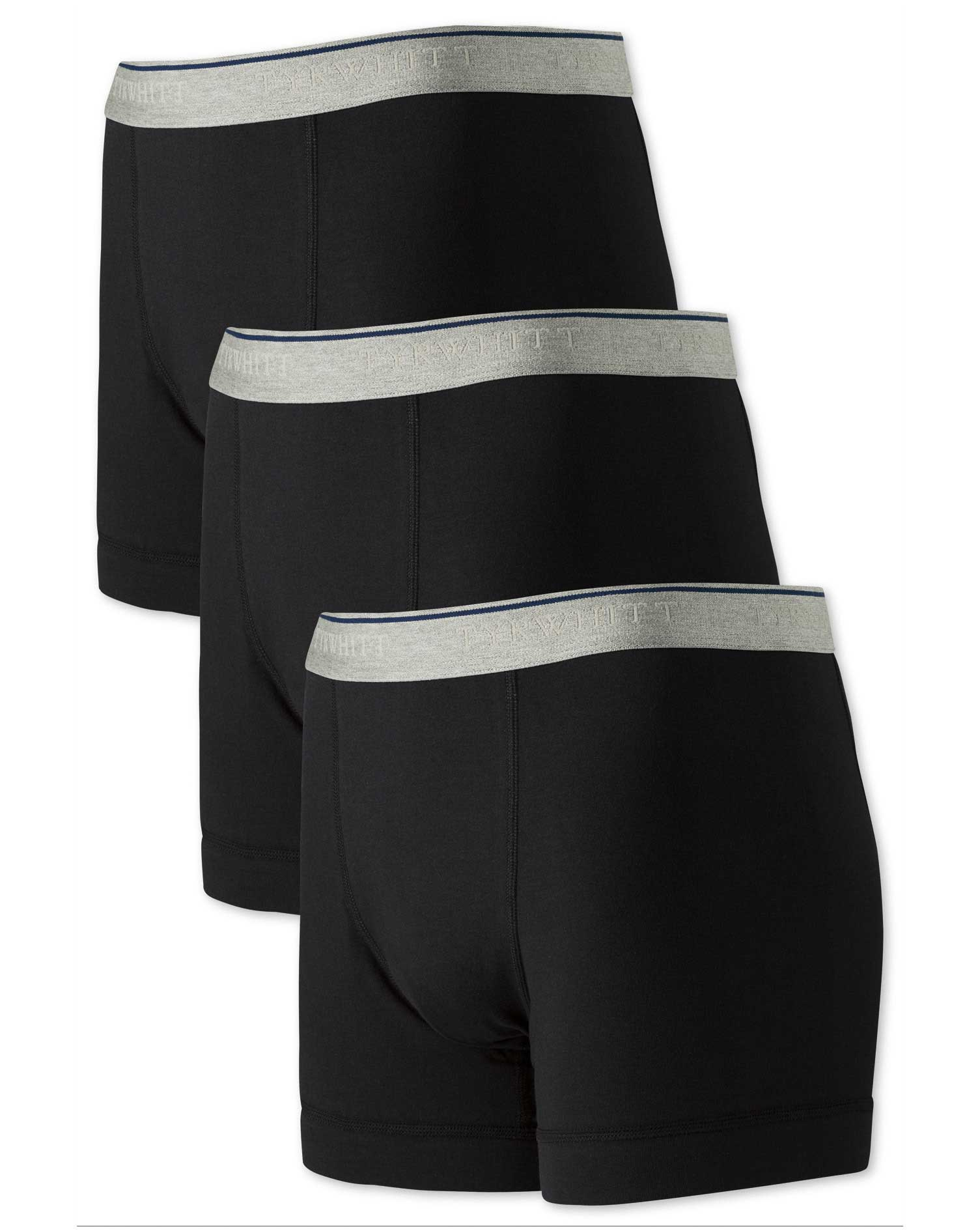 black jersey 3 pack trunks size xs by charles tyrwhitt