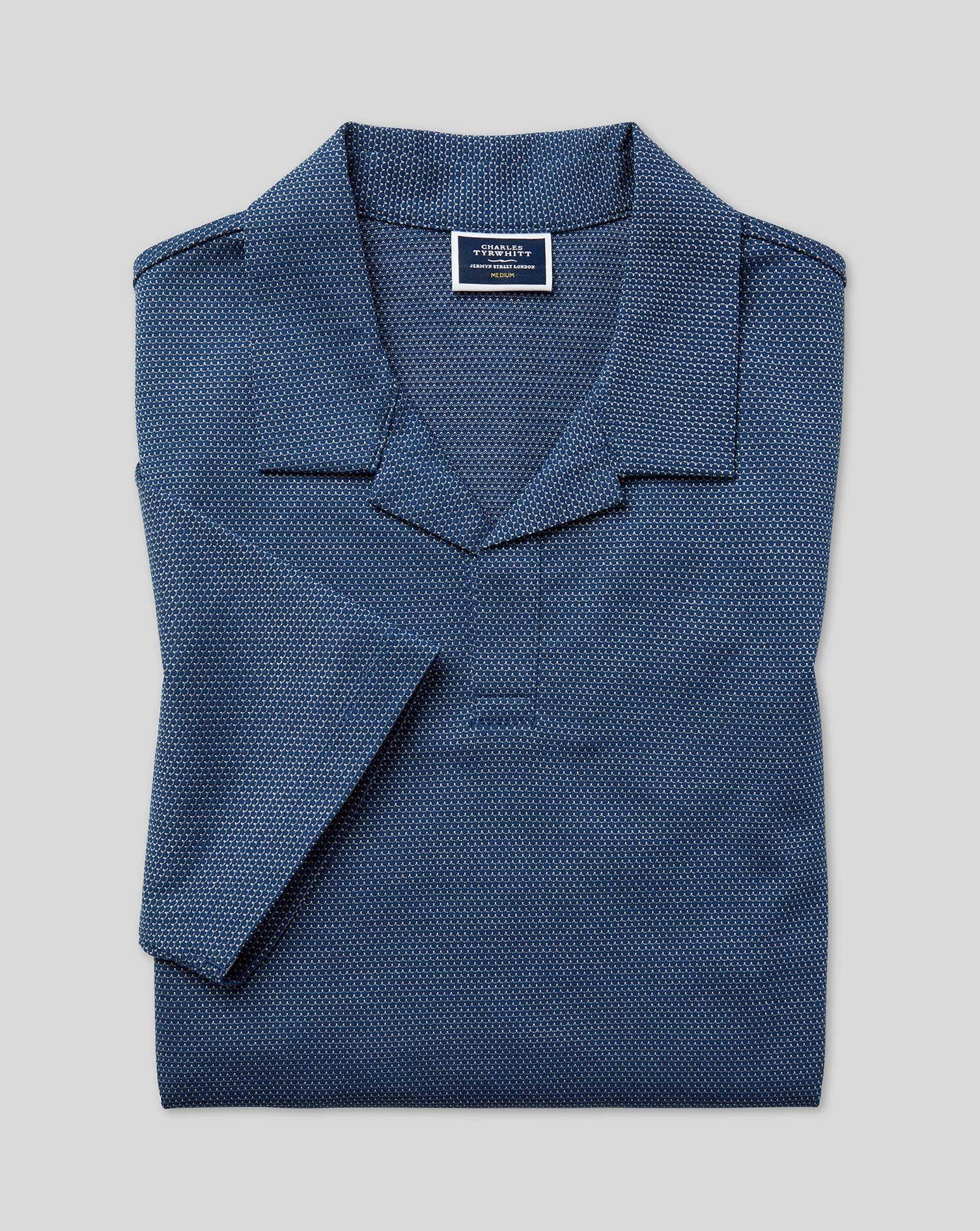 Polo En Tissu Tyrwhitt Cool À Col Resort - Bleu - XXXL par Charles Tyrwhitt