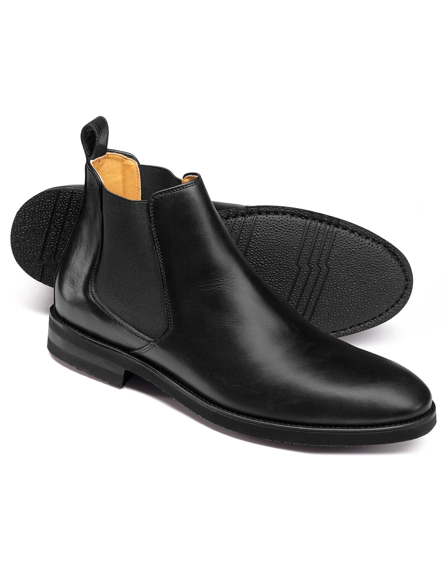 Black Extra Lightweight Chelsea Boots Size 9 R by Charles Tyrwhitt
