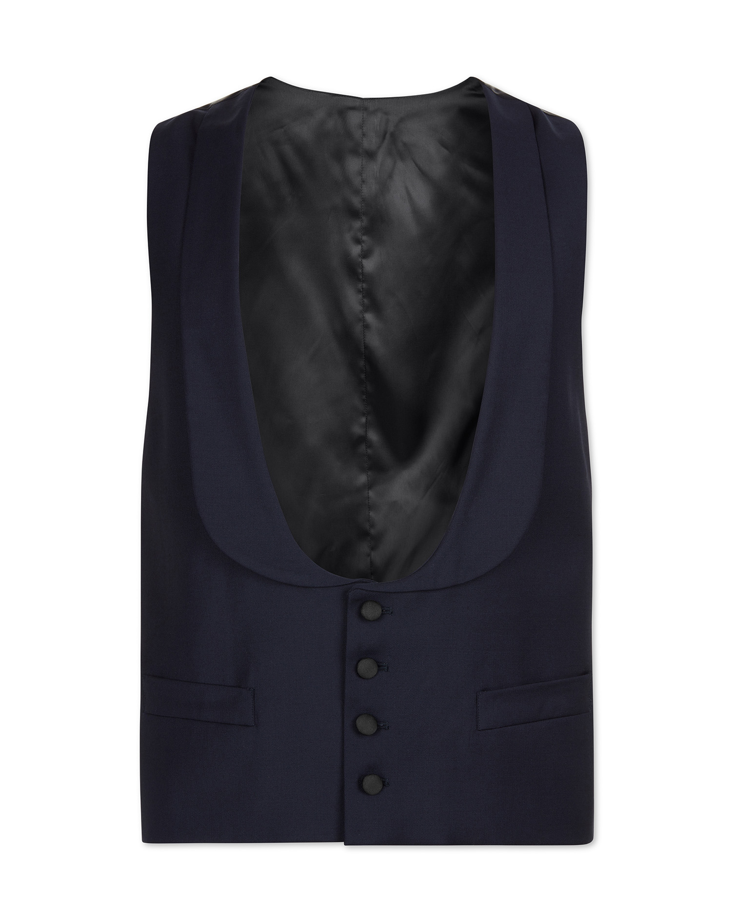 Edwardian Men's Formal Wear Charles Tyrwhitt Navy tuxedo waistcoat £69.95 AT vintagedancer.com