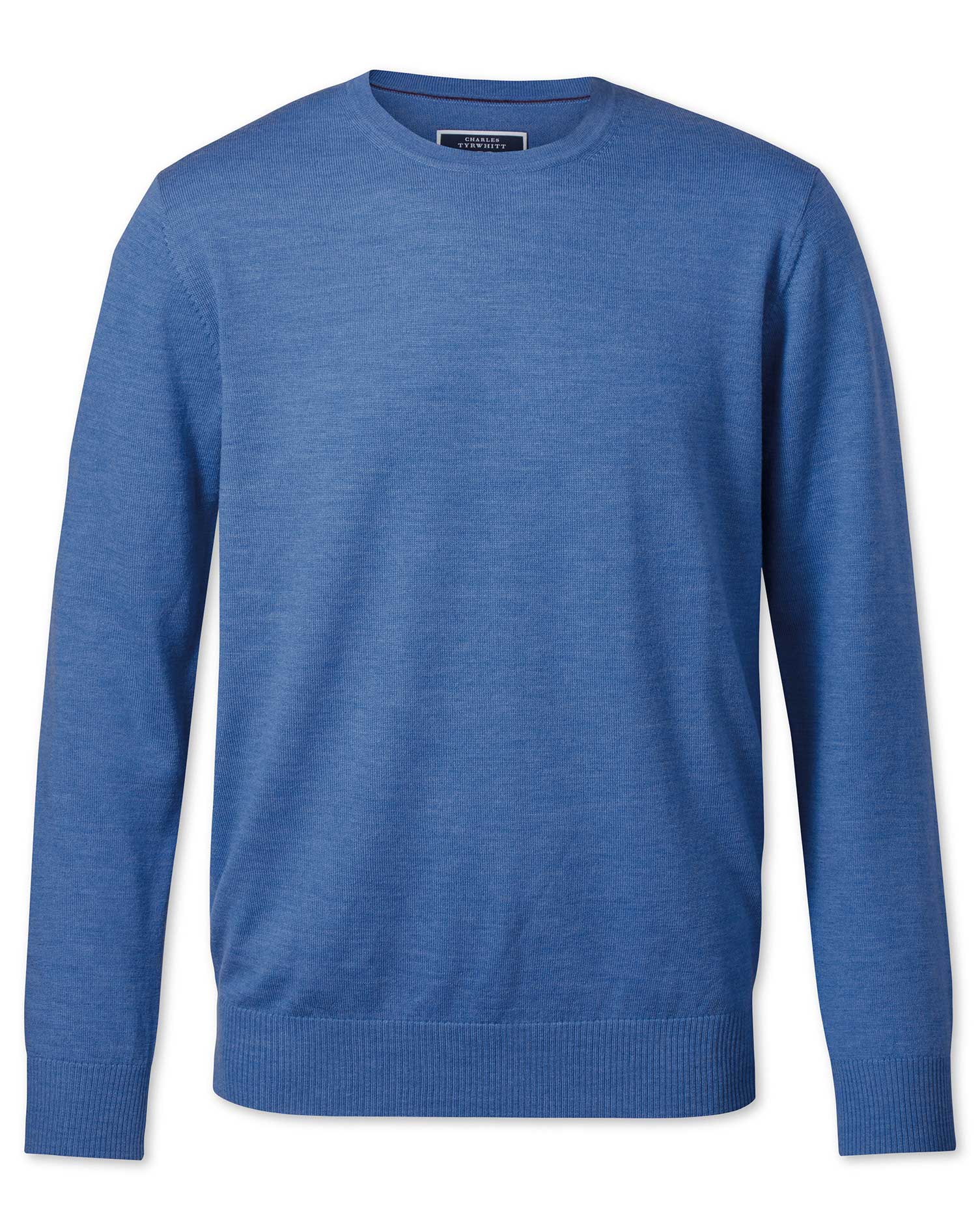 Blue Merino Wool Crew Neck Jumper Size XS by Charles Tyrwhitt
