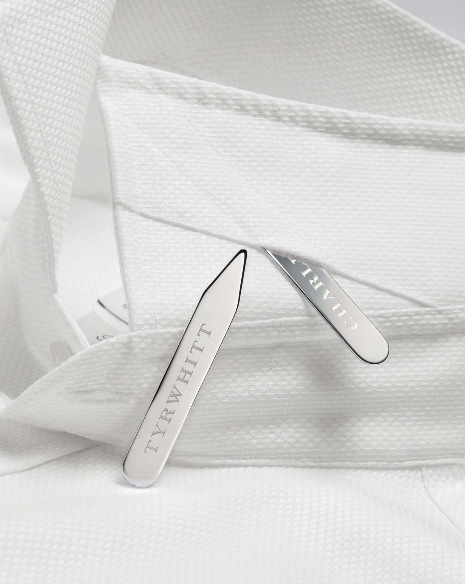 Silver Plated Collar Stiffeners by Charles Tyrwhitt