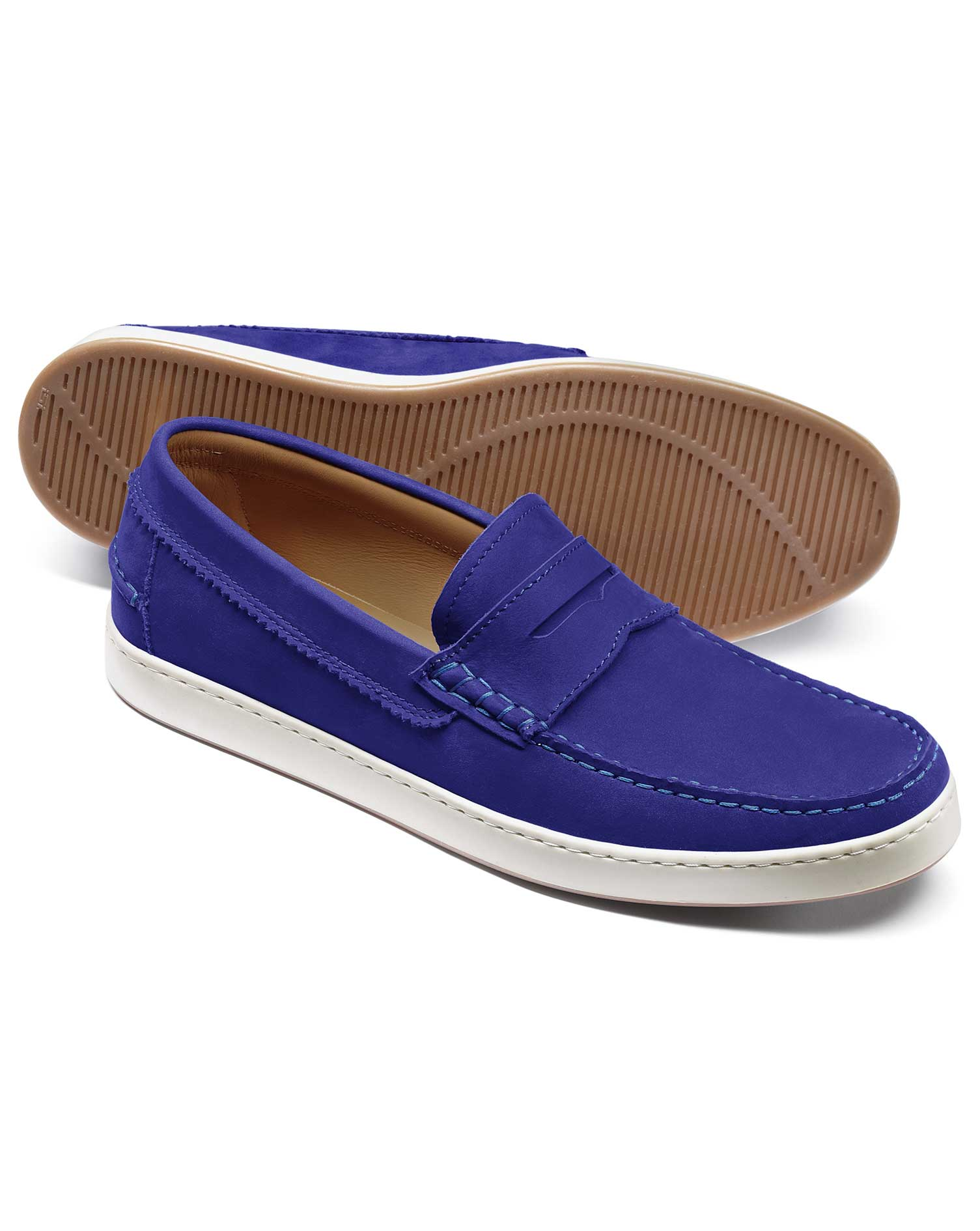 Blue Saddle Loafer Size 10 R by Charles Tyrwhitt