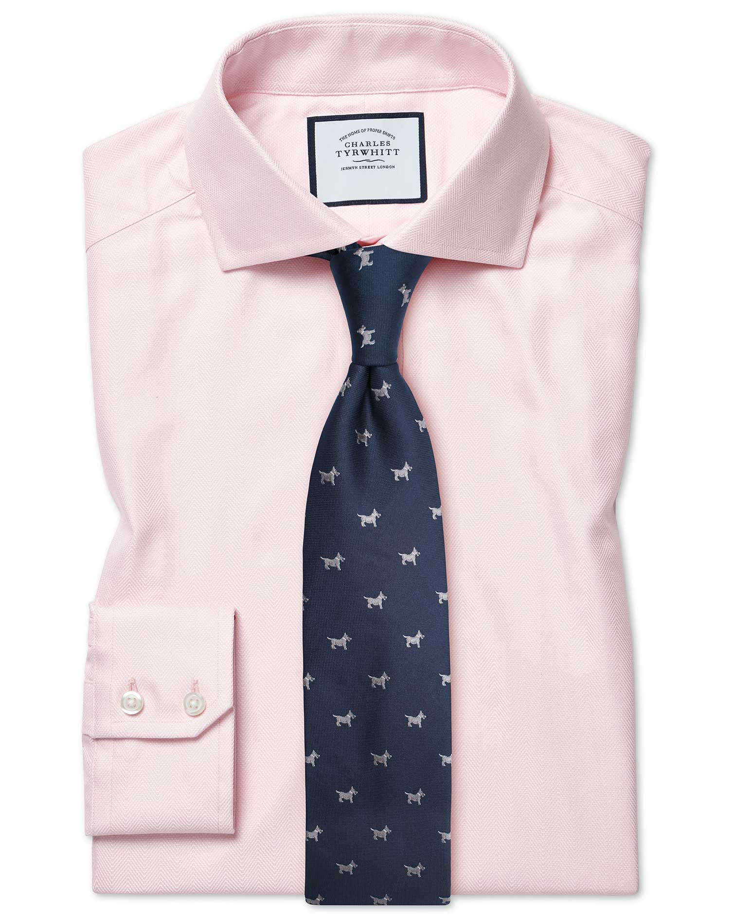 Cotton Tencel Slim Fit Cutaway Cotton Stretch With Tencel™ Pink Shirt