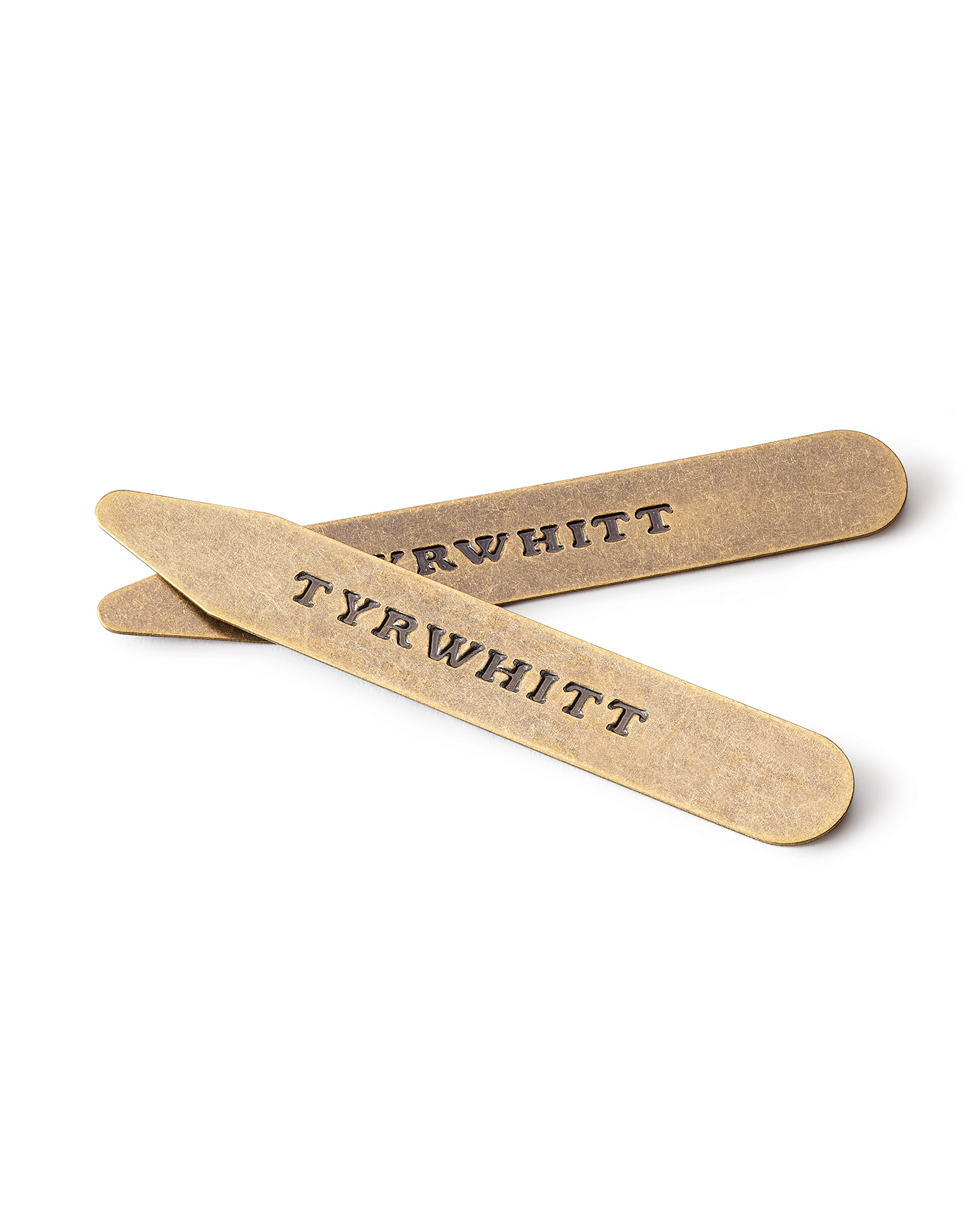 3 Pack Solid Brass Classic Collar Stiffeners by Charles Tyrwhitt