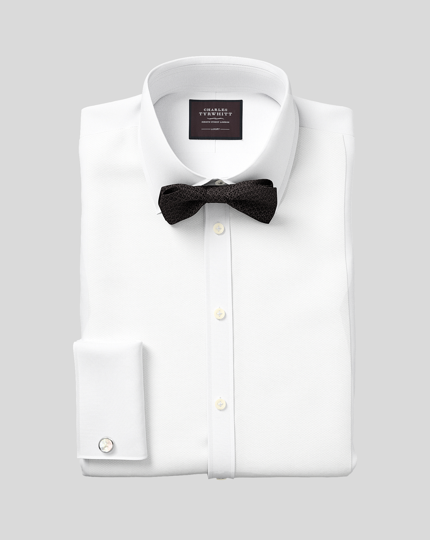 Egyptian Cotton Extra Slim Fit Luxury Marcella Bib Front White Evening Shirt