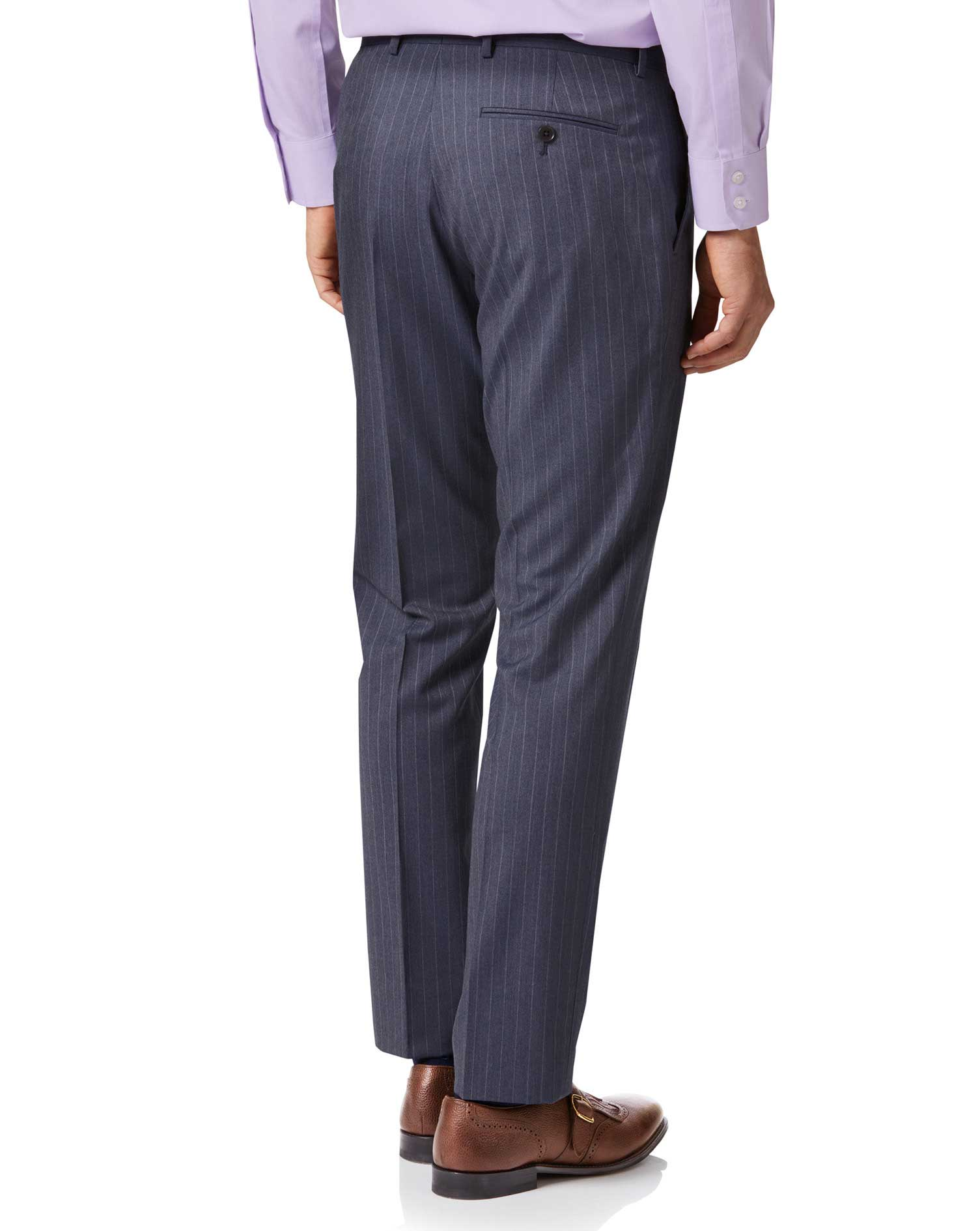 Airforce stripe classic fit Panama business suit pants