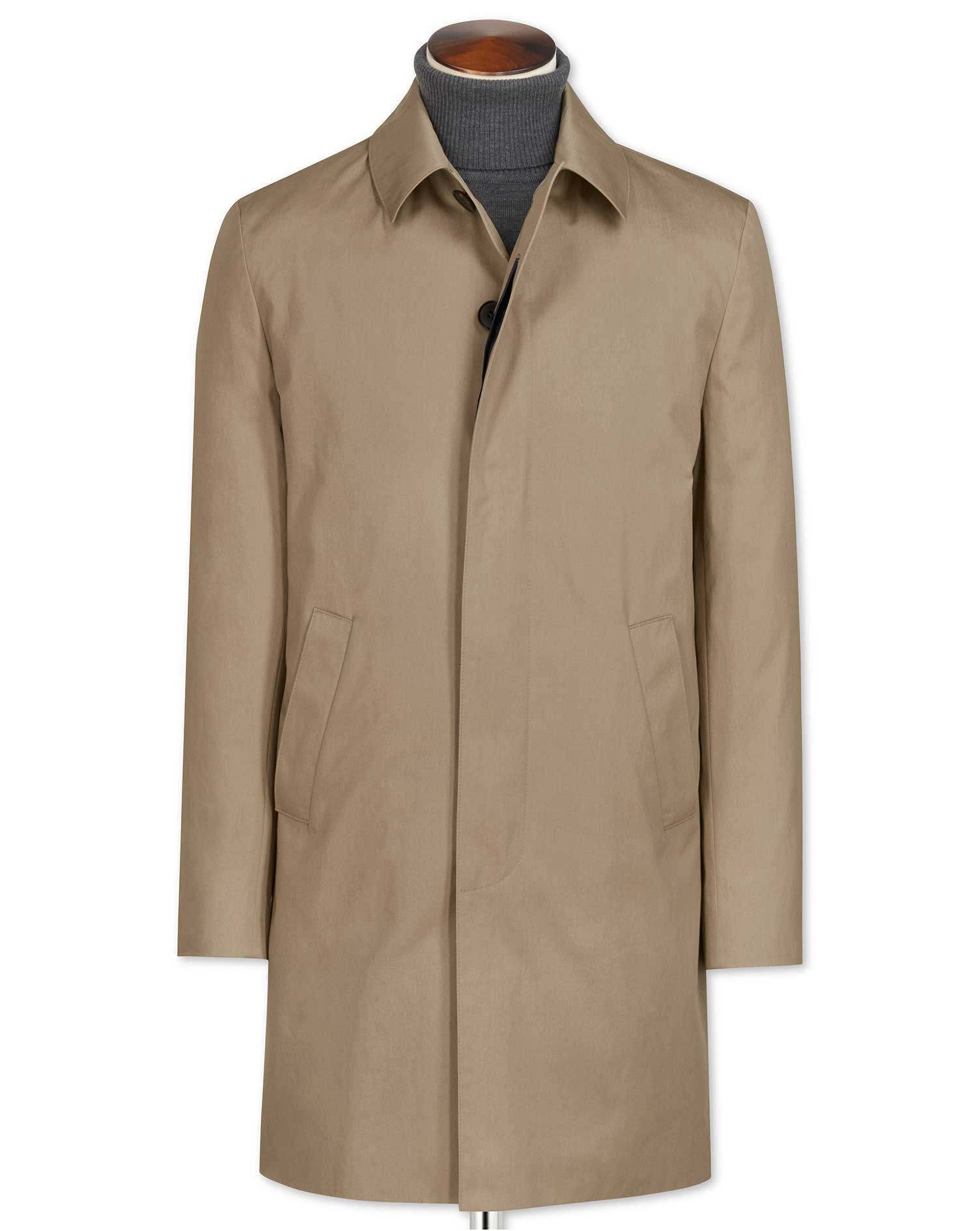 Stone Cotton Raincoat Charles Tyrwhitt