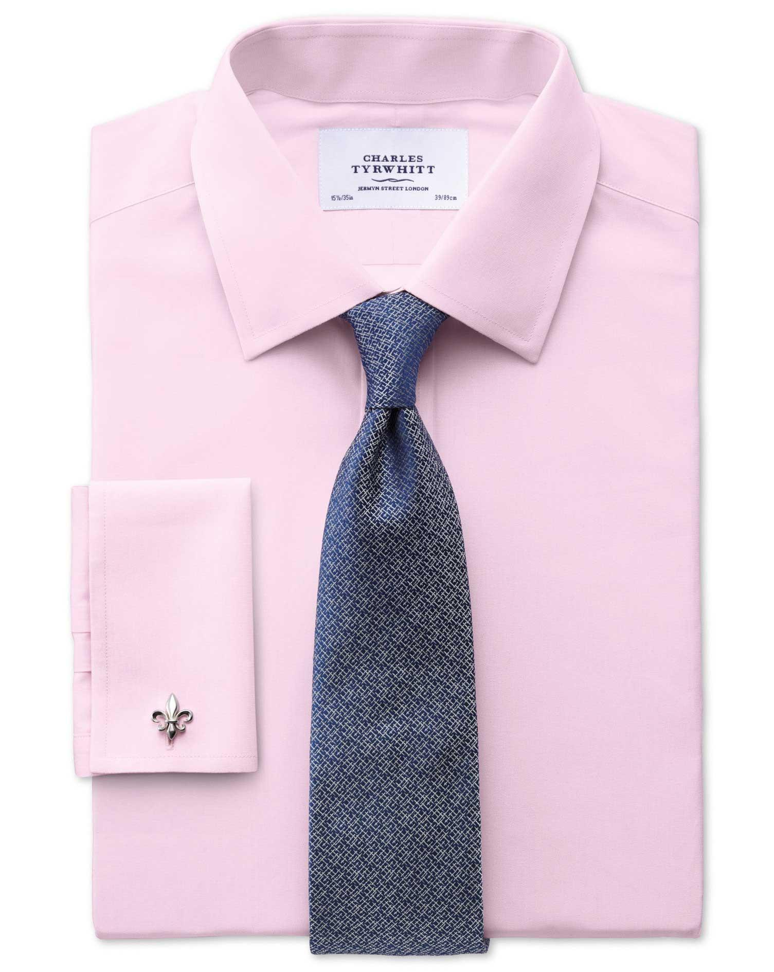 Slim Fit End On End Pink Shirt Charles Tyrwhitt