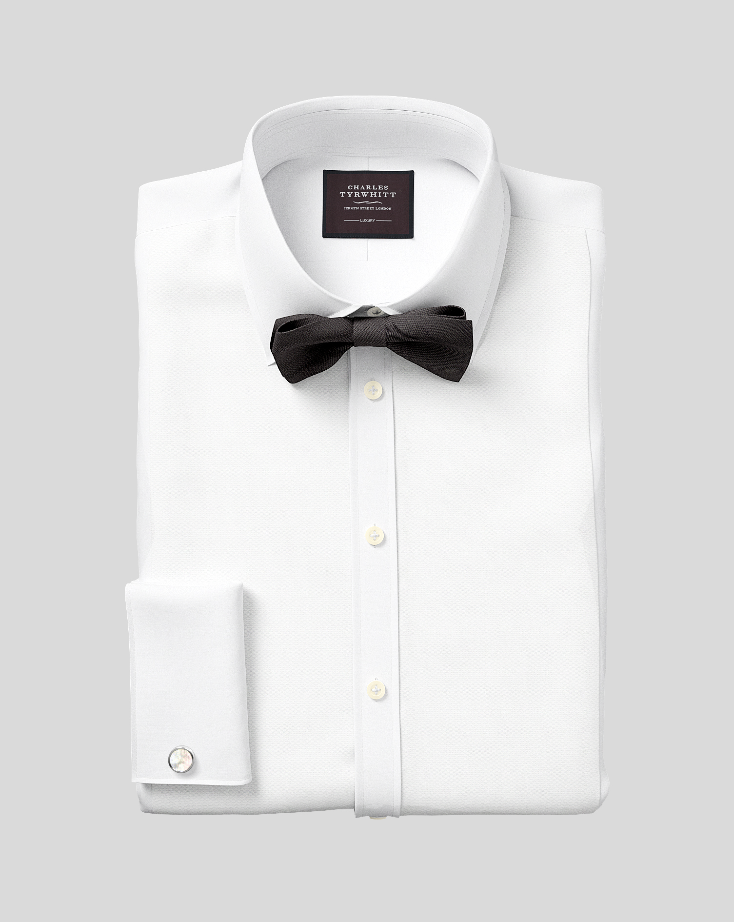 Classic Fit Luxury Marcella Bib Front White Evening Egyptian Cotton Formal Shirt Double Cuff Size 16