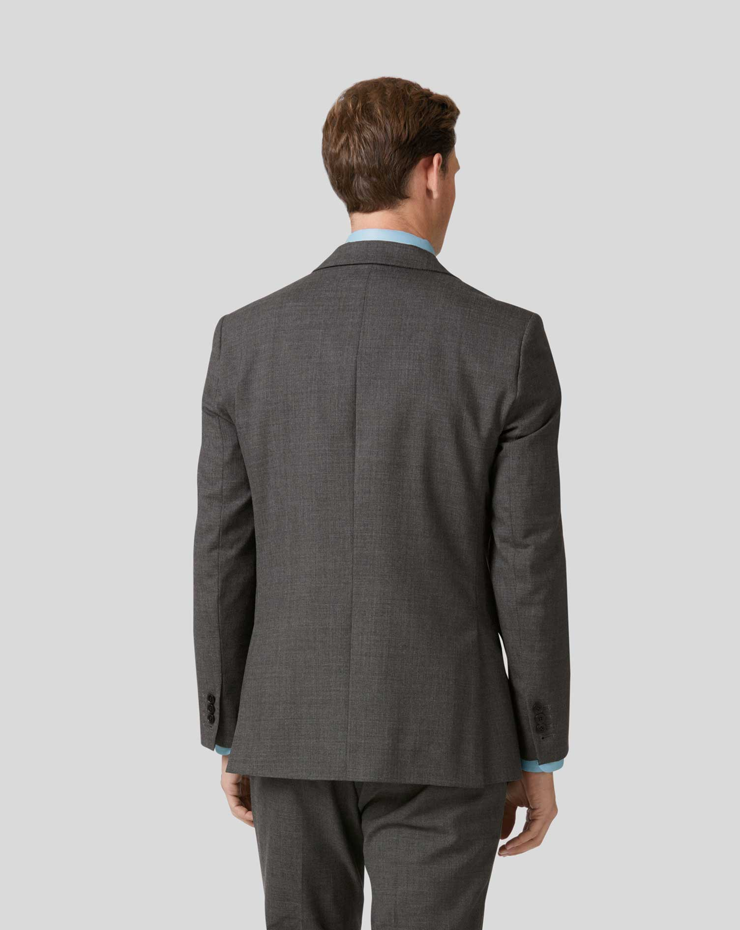 Slim Fit Businessanzug-Sakko aus Merino in Grau