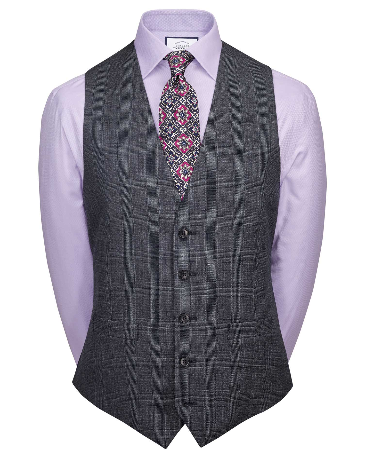 Airforce Blue Adjustable Fit Twist Business Suit Wool Waistcoat Size w36 by Charles Tyrwhitt