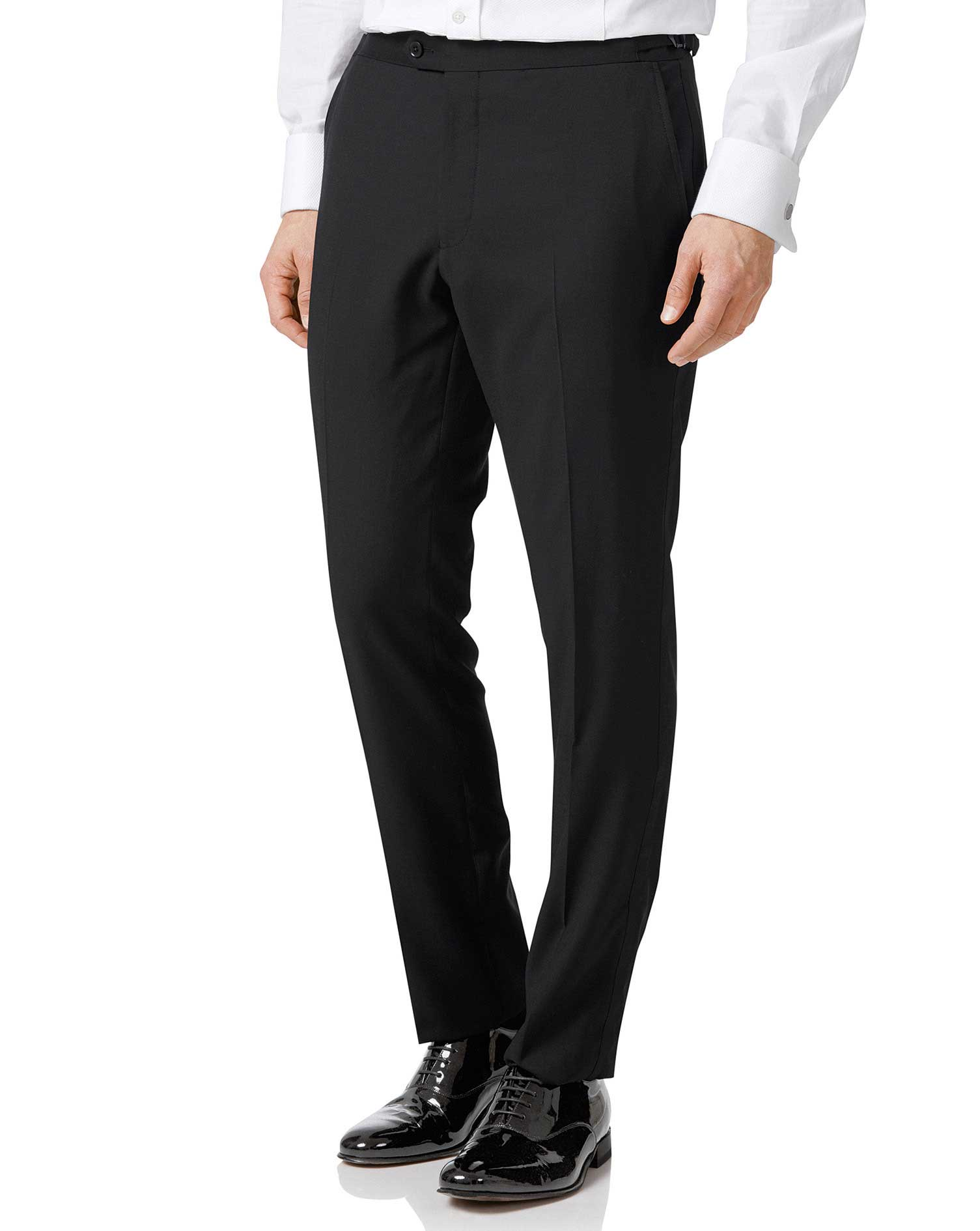 Black Extra Slim Fit Dinner Suit Trouser Size W34 L34 by Charles Tyrwhitt