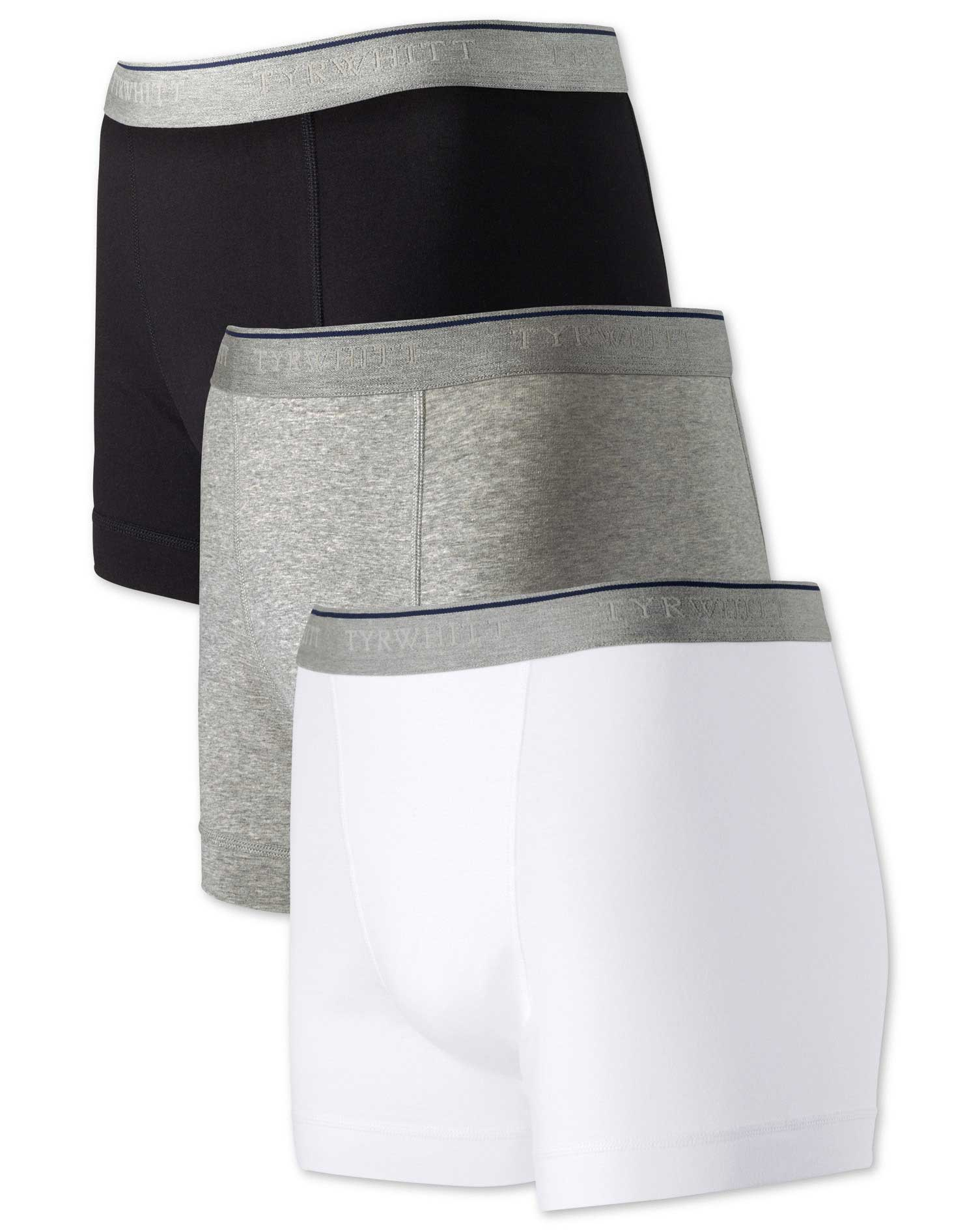 White Multi Jersey 3 Pack Trunks Size XL by Charles Tyrwhitt