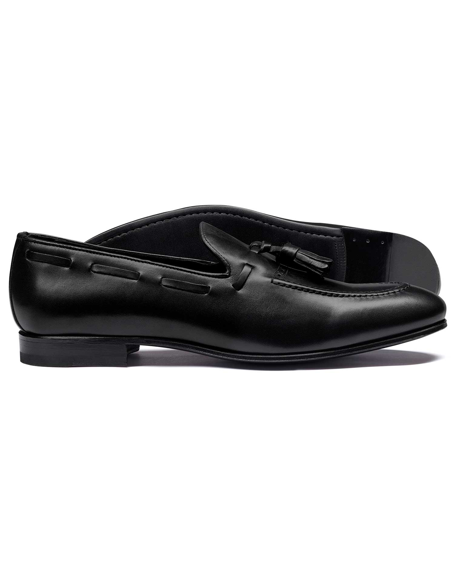 Black Tassel Loafer Size 6 R by Charles Tyrwhitt