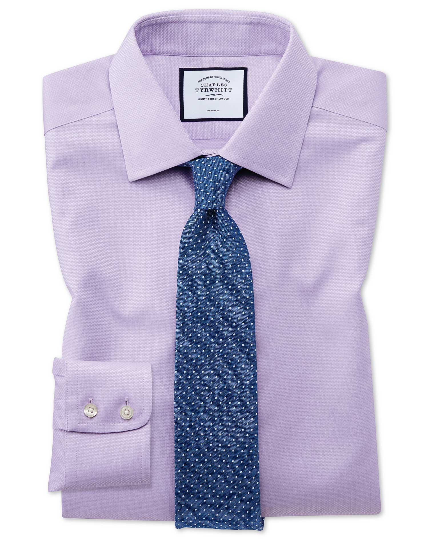 Chemise Lilas Extra Slim Fit Tissage Effet Triangles Sans Repassage - 16 / 33