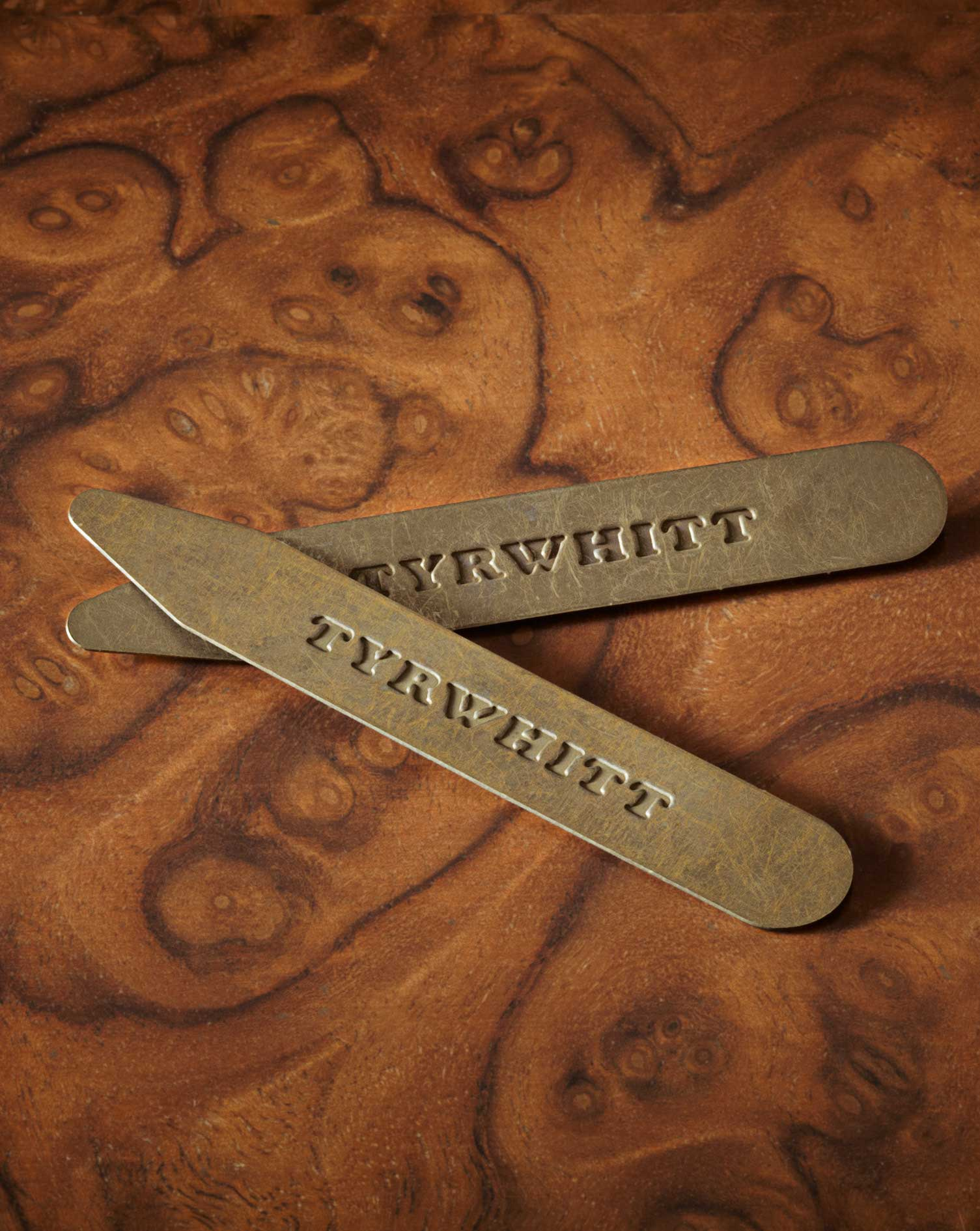Image of Charles Tyrwhitt 3 Pack Solid Brass Spread Collar Stays by Charles Tyrwhitt
