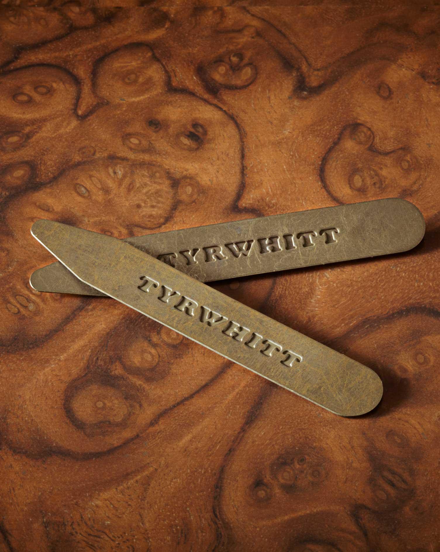 Image of Charles Tyrwhitt 3 Pack Solid Brass Classic Collar Stiffeners by Charles Tyrwhitt