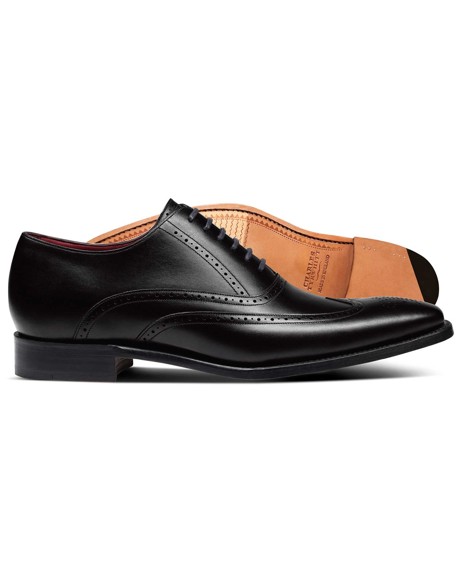 8261f9eee2e Black made in England Oxford brogue flex sole shoes