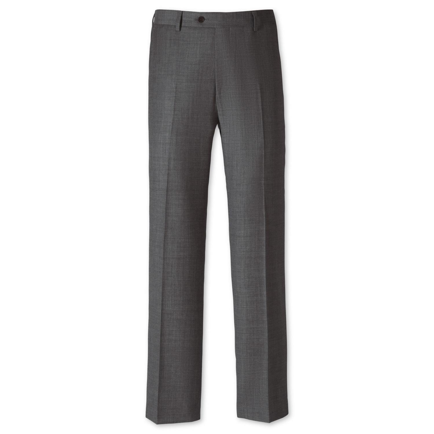 Grey Classic Fit Apsley Sharkskin Business Suit Trousers Size W32 L32 by Charles Tyrwhitt